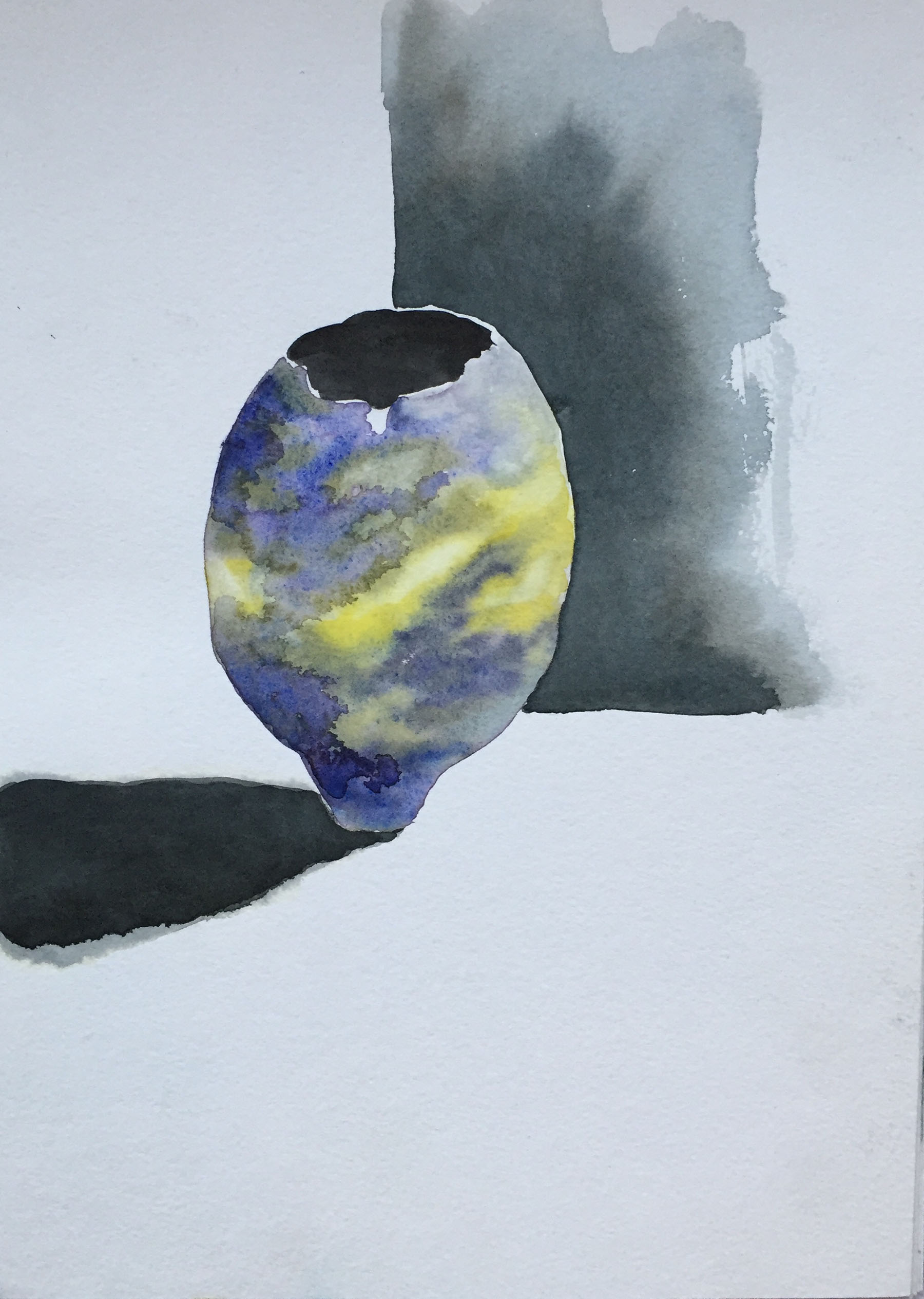 Ceramic , Acrylic on canvas, 22 x 30 cm