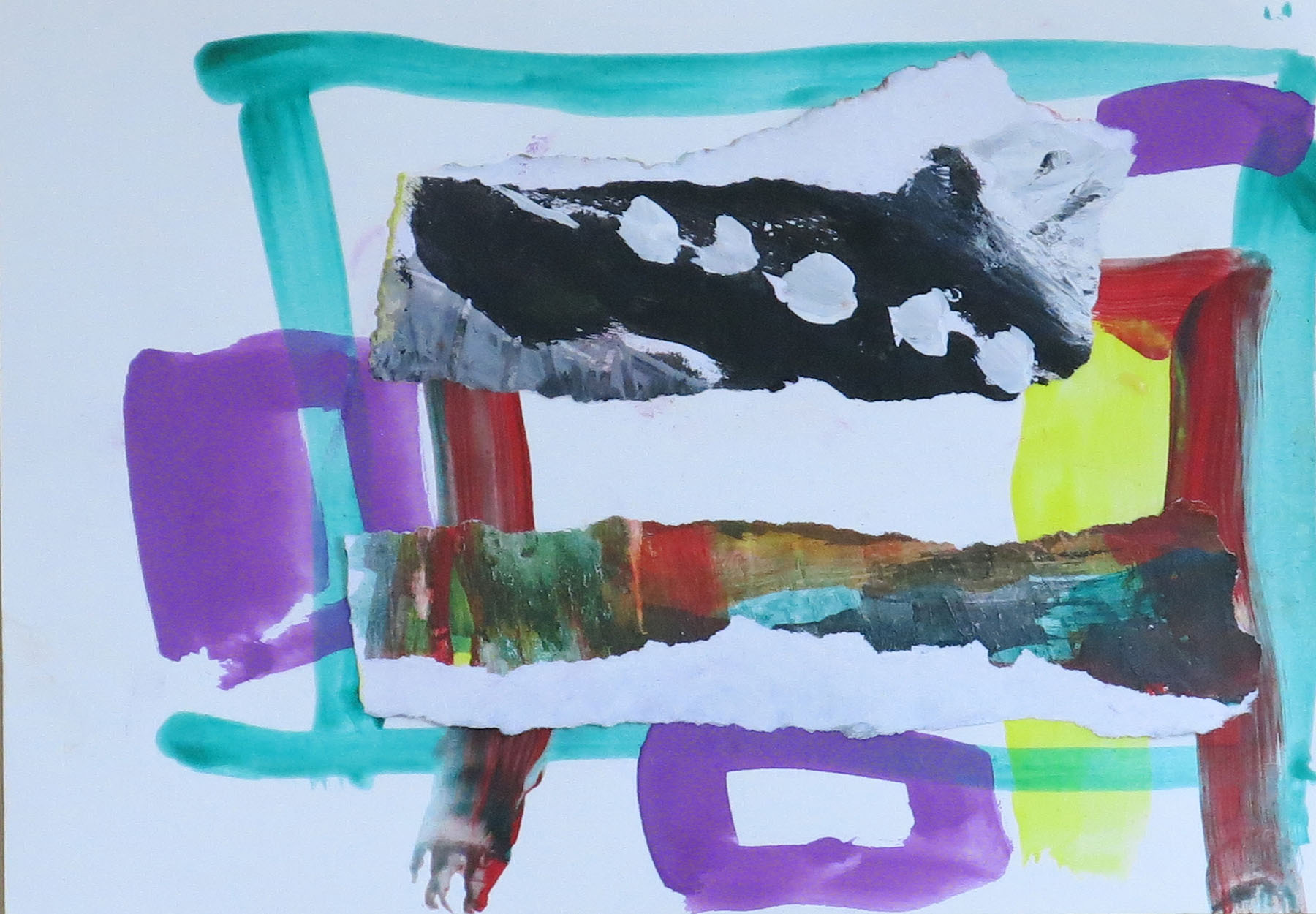 20 July No.1 , Mixed media on paper, 20 x 15 cm
