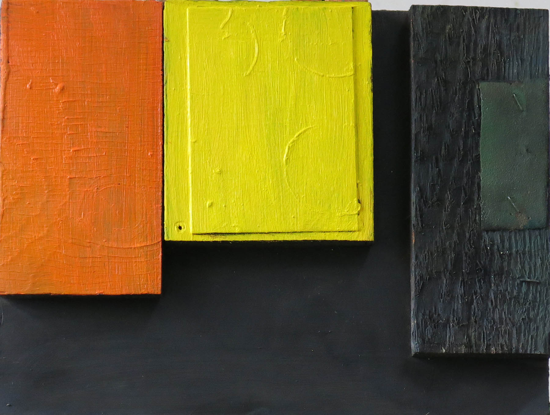 Colour Chords No.5 , Wood pieces on board, 27 x 22 cm