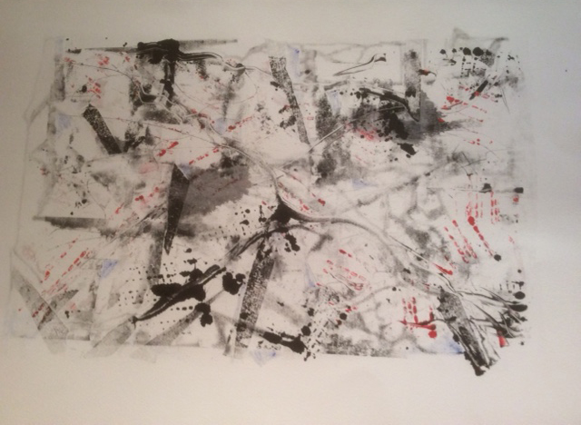 Traffic Maze , Oil monoprint, 57 x 39 cm
