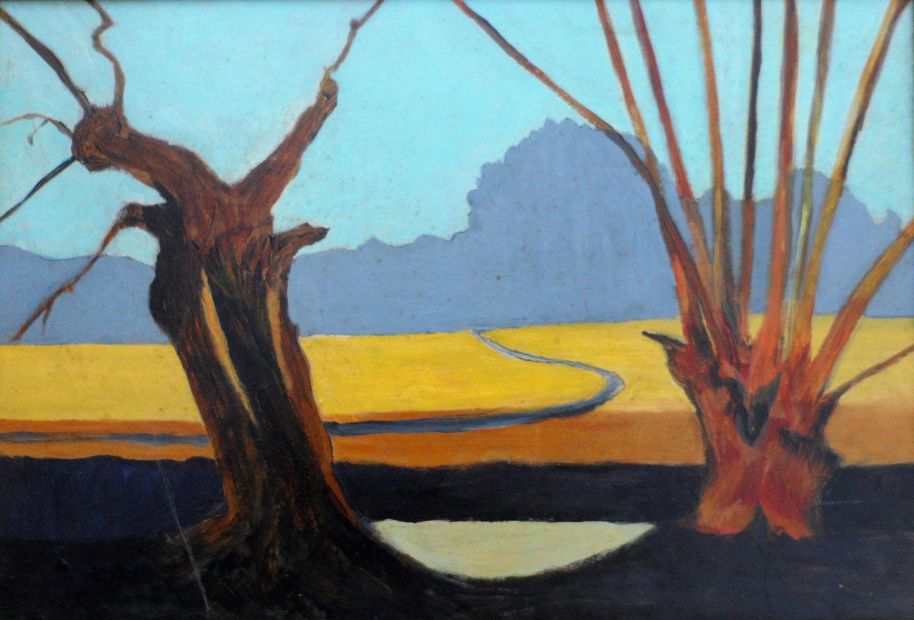 Arid Landscape , Acrylic, 48 x 34 cm