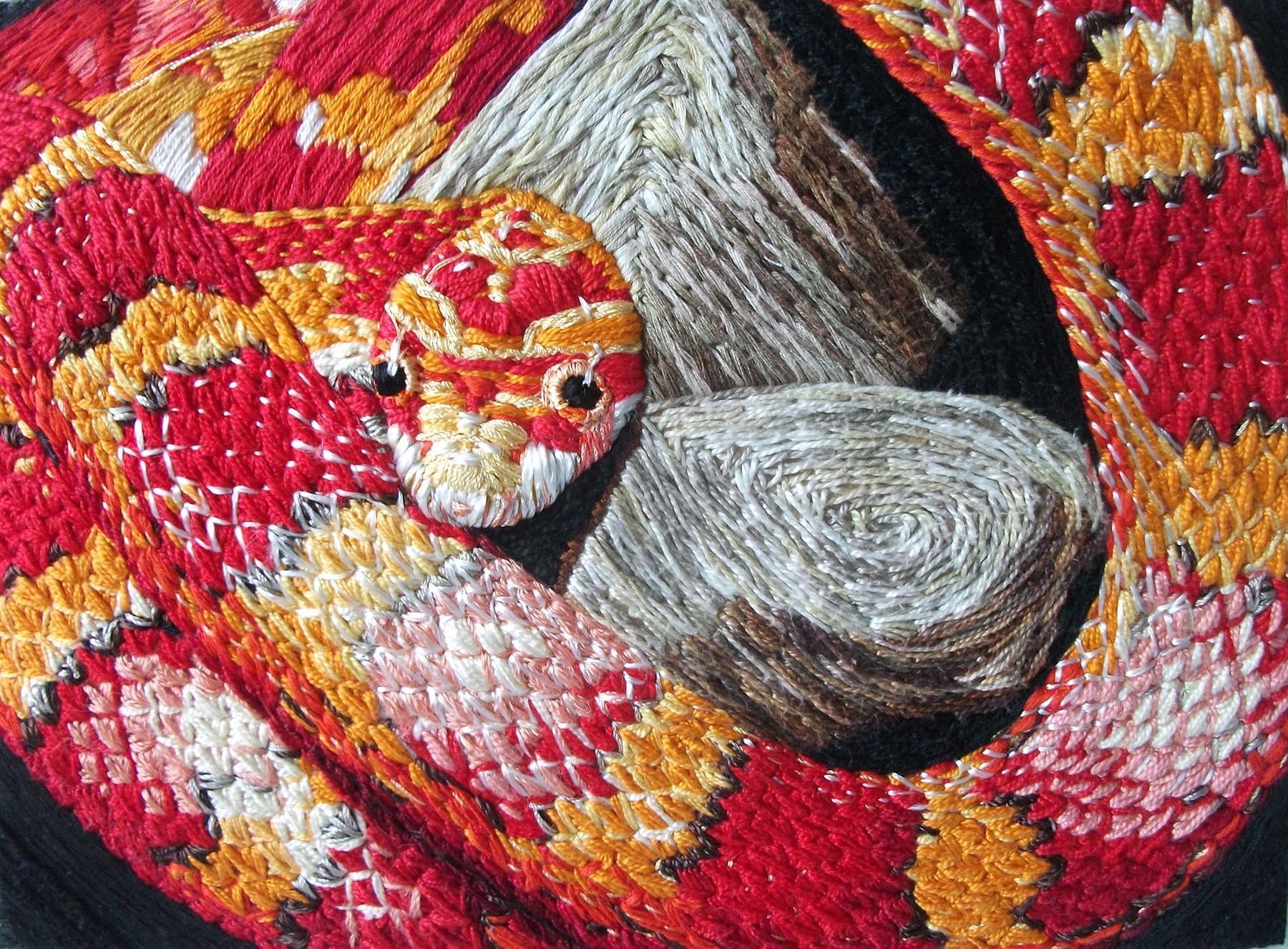 Corn Snake Pattern Layer Cake , Textile, 27.5 x 19.5 cm