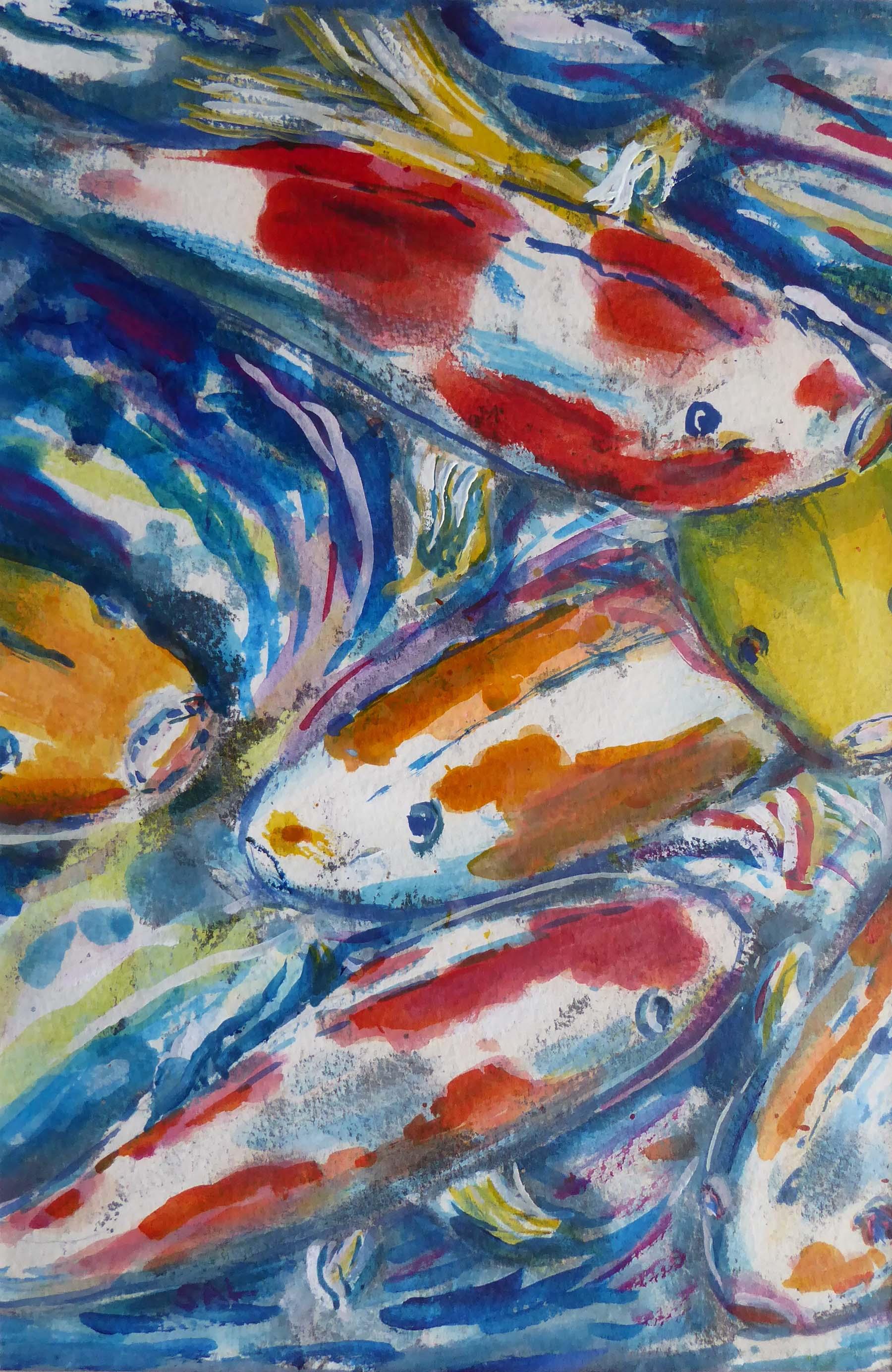 Splash,  Gouache and ink, 30 x 20 cm