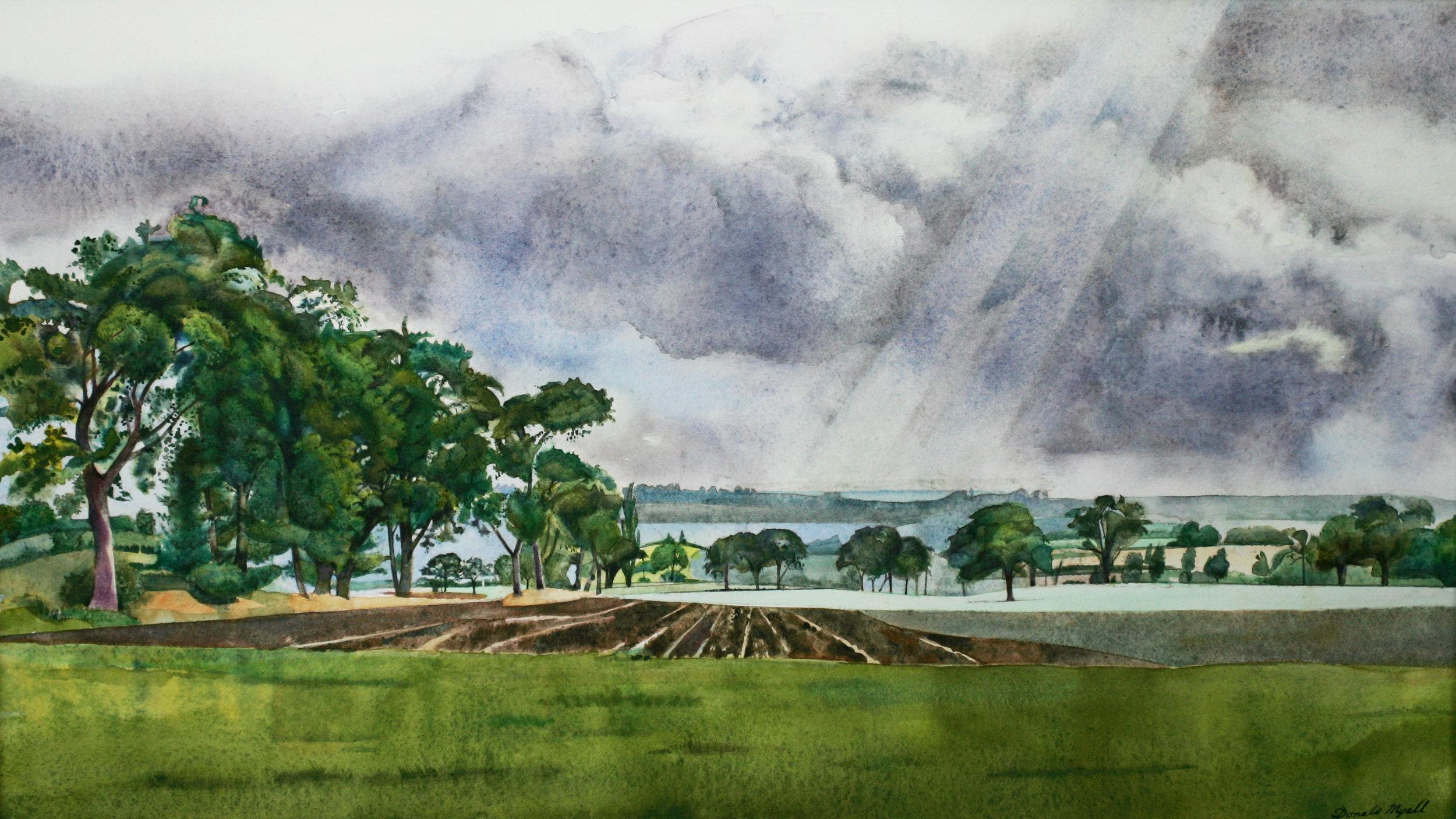 Landscape, Danbury,  Watercolour, 26 x 46 cm