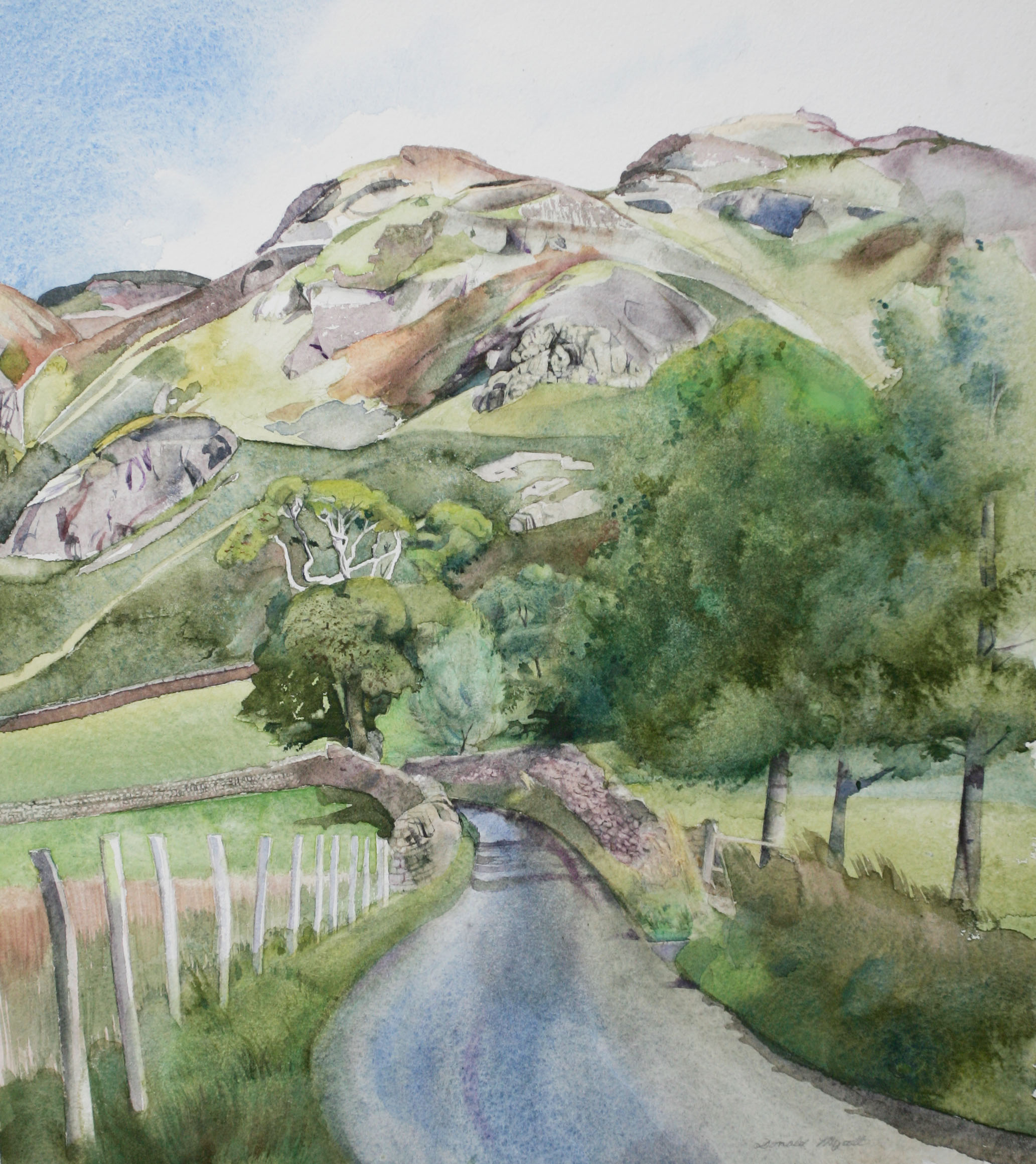 High Rigg, Low Rigg,  Watercolour, 35 x 28 cm