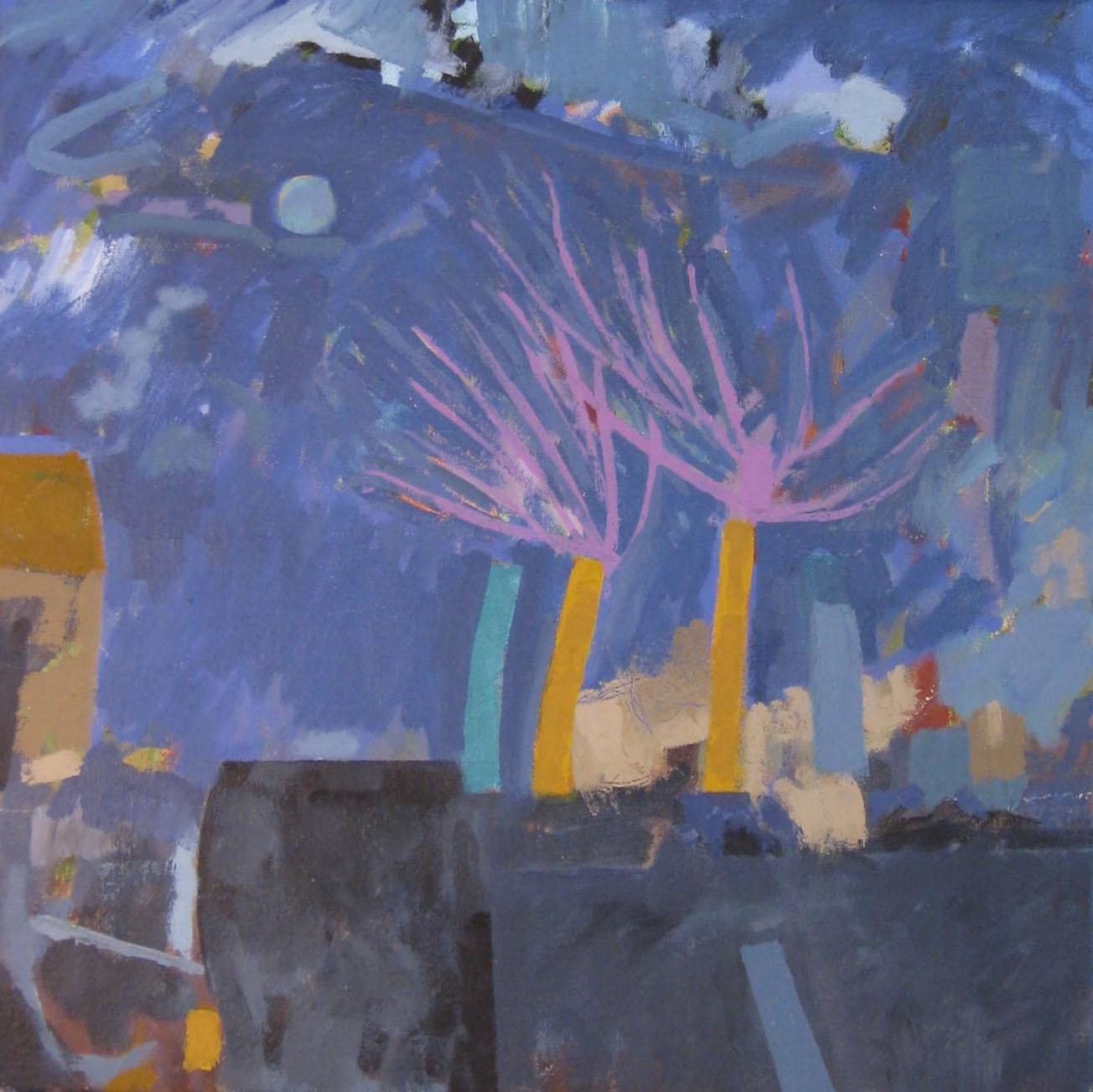 Blue Autumn , Oil on canvas, 40 x 40 cm