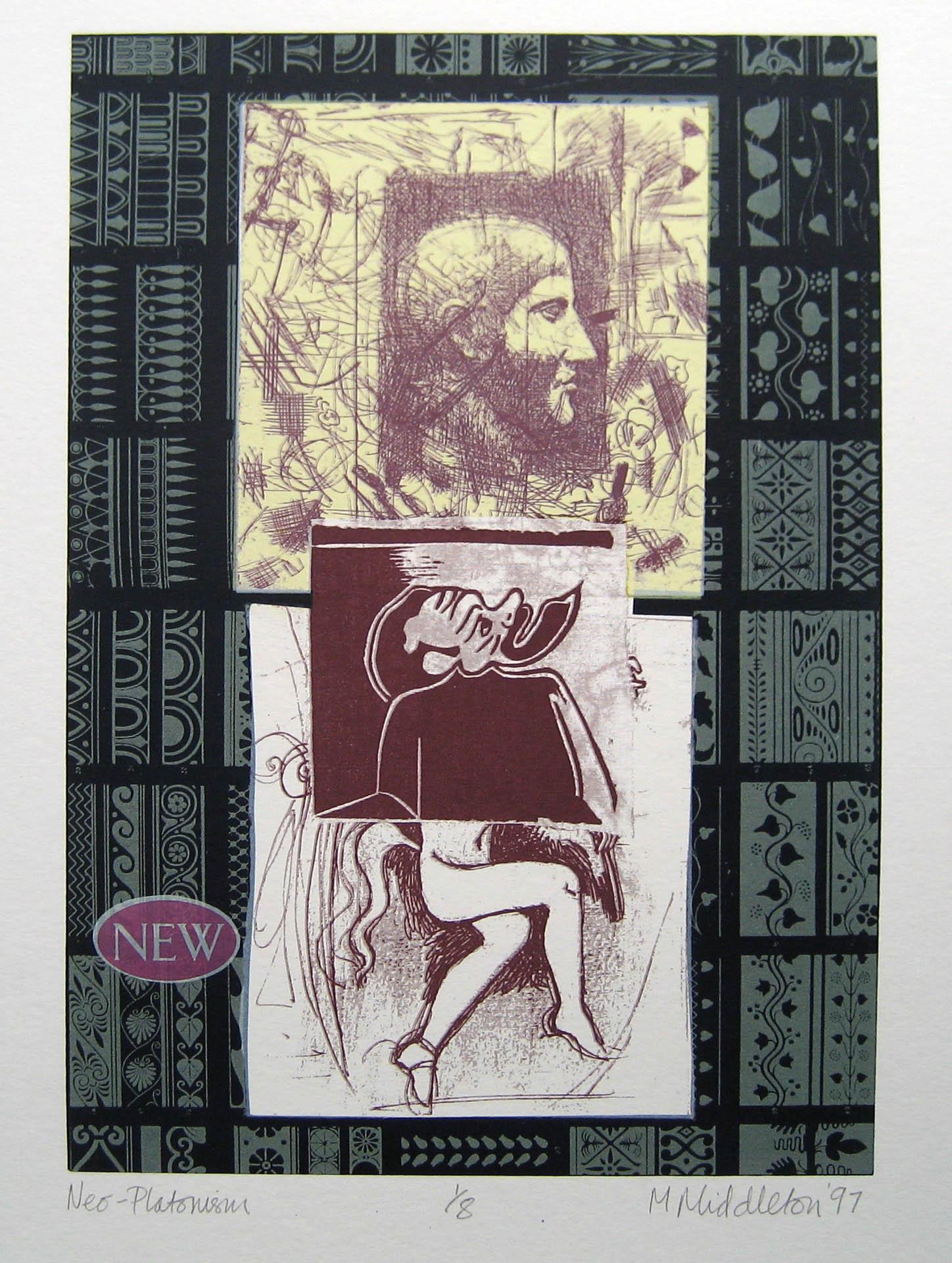 Michael Middleton  Neo-Platonism, Print, 29.5 x 21 cm  [CAS 81]