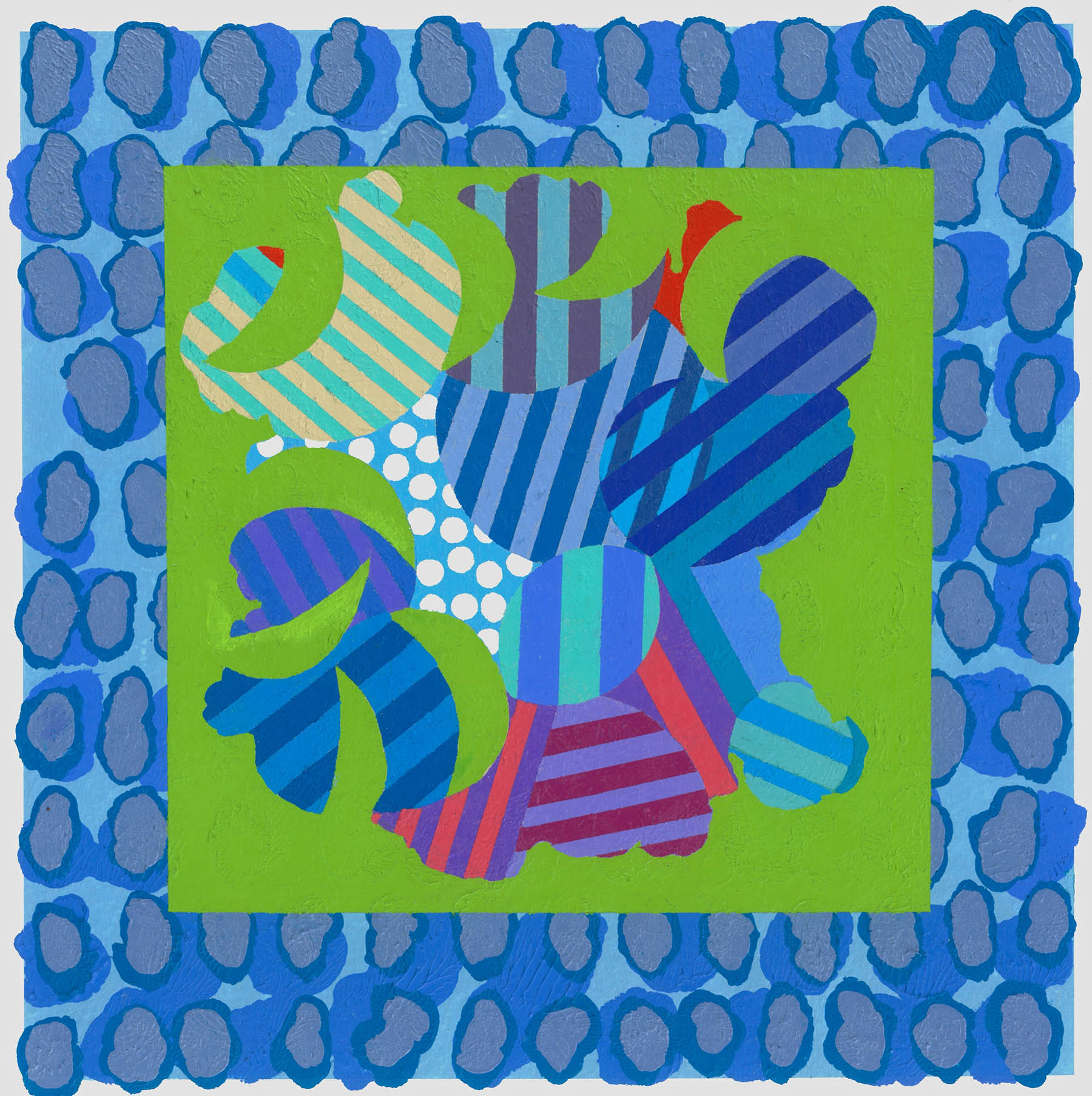 Truce , 2019, Acrylic on paper, 25x25cm