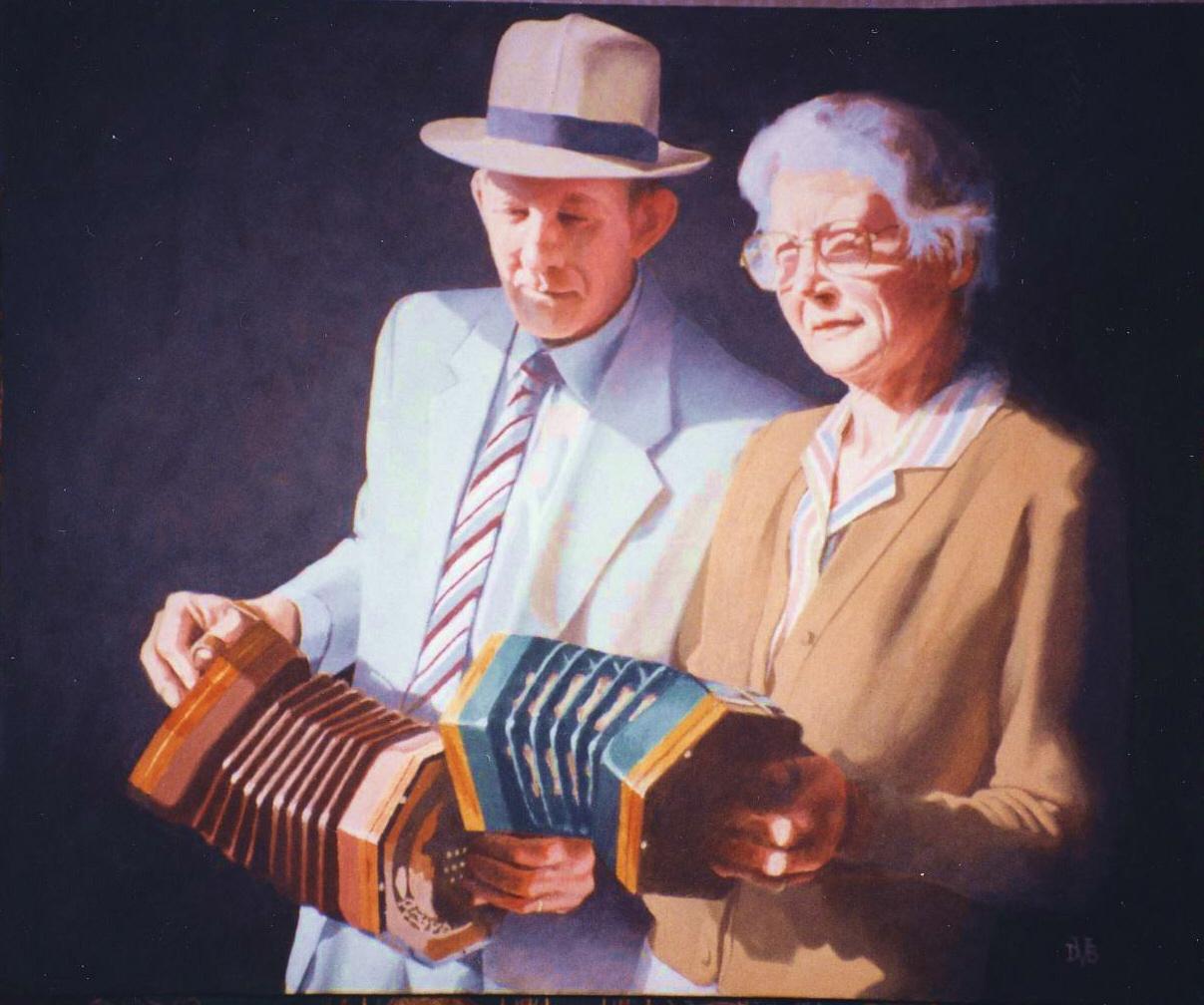 Portrait of Margaret & Rod , Oil on canvas, 50 x 70 cm