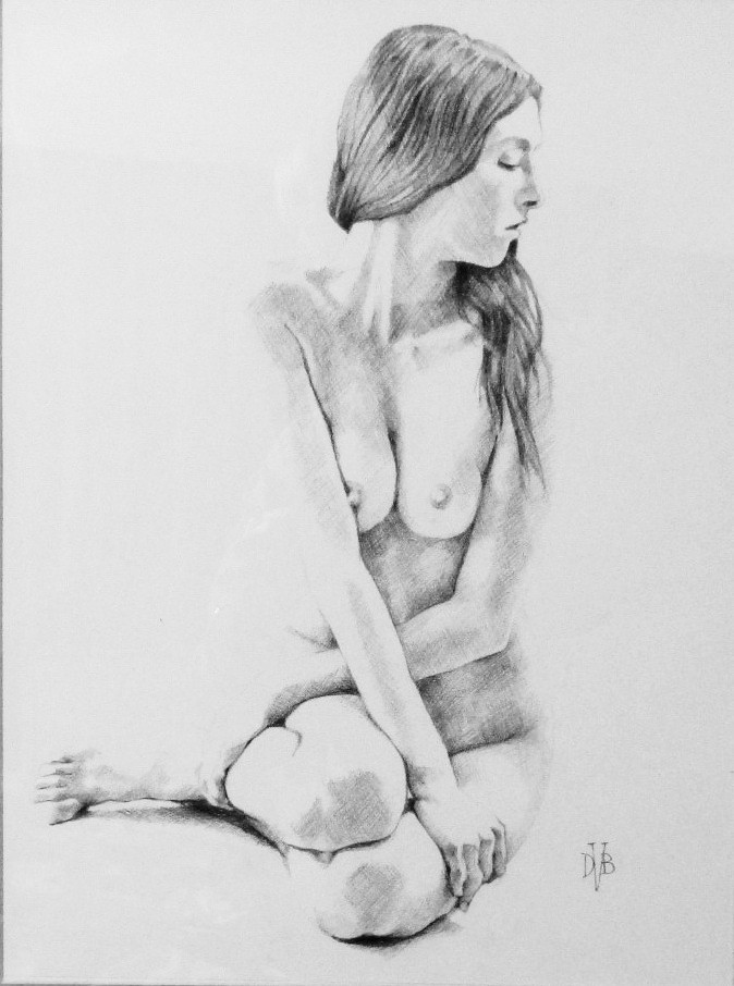 Amelia , Drawing, 30 x 40 cm