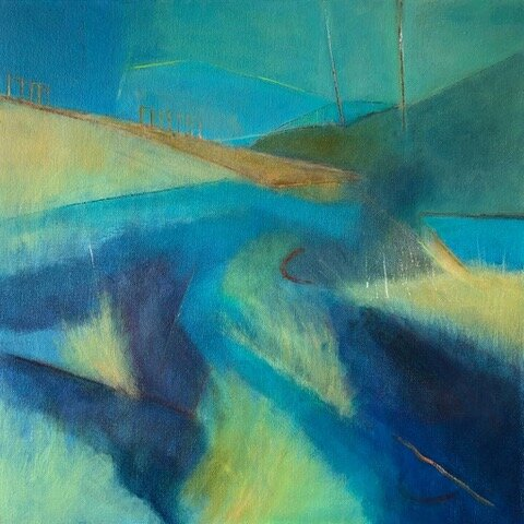 Orford Impression 1 , Acrylic on canvas, 50 x 50 cm