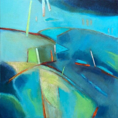 Orford Impression 2 , Acrylic on canvas, 50 x 50 cm