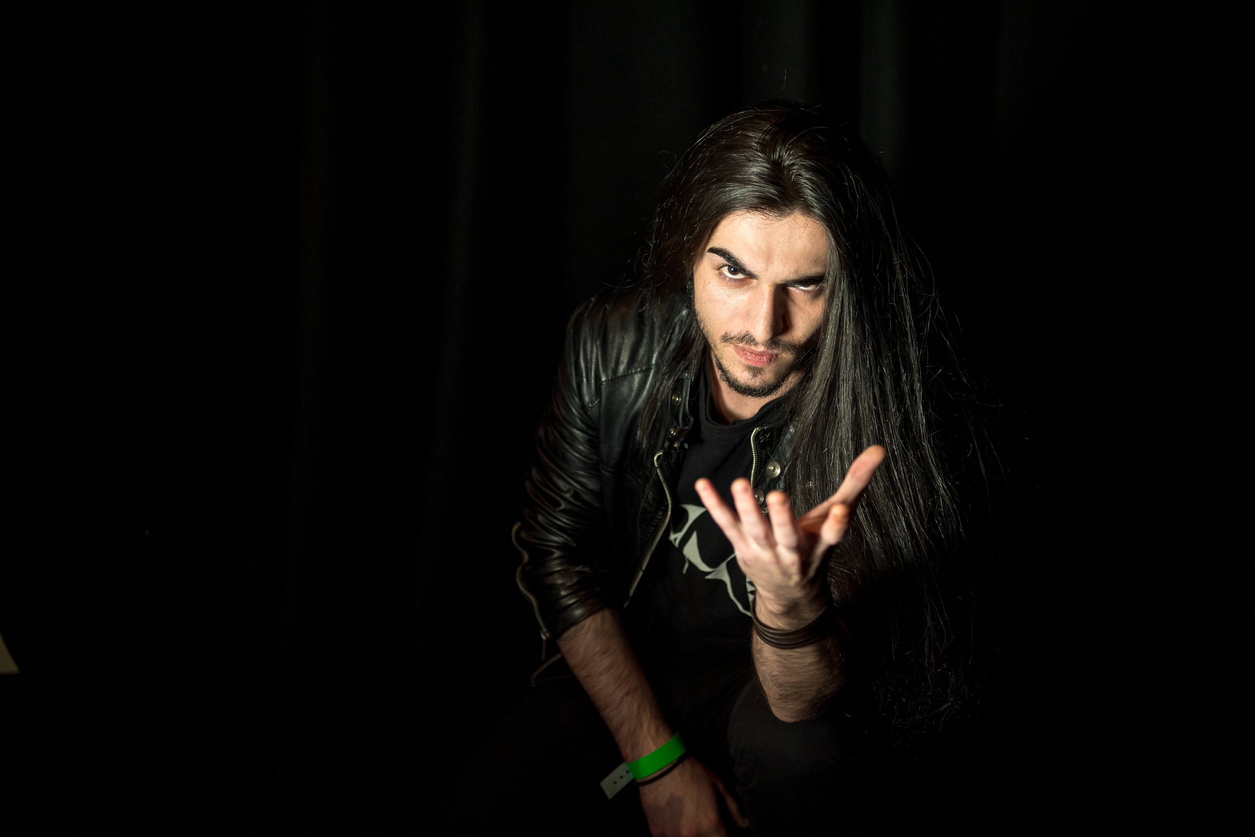 Jake Shuker of Syrian death metal band Maysaloon. (Pic: Tina Korhonen)
