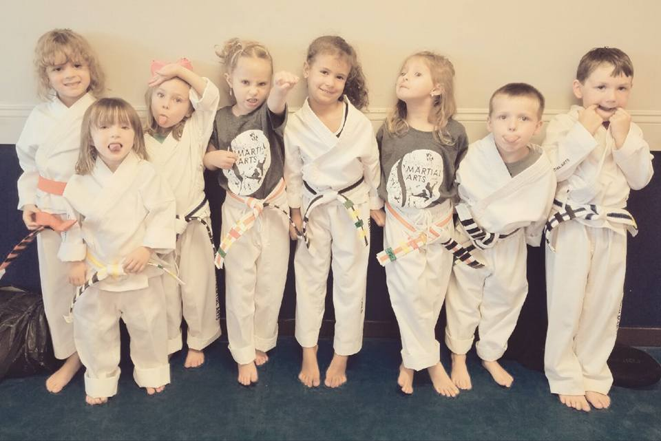 TKD Tots - Our TKD Tots class is a program for 3-4 year olds to start their TaeKwonDo journey with the tot experience! Your toddler will receive different ninja belts until they reach the end of the belt cycle. The classes for our ninjas include mini-forms, learning self-control, growing their listening skills, and fun ninja games!