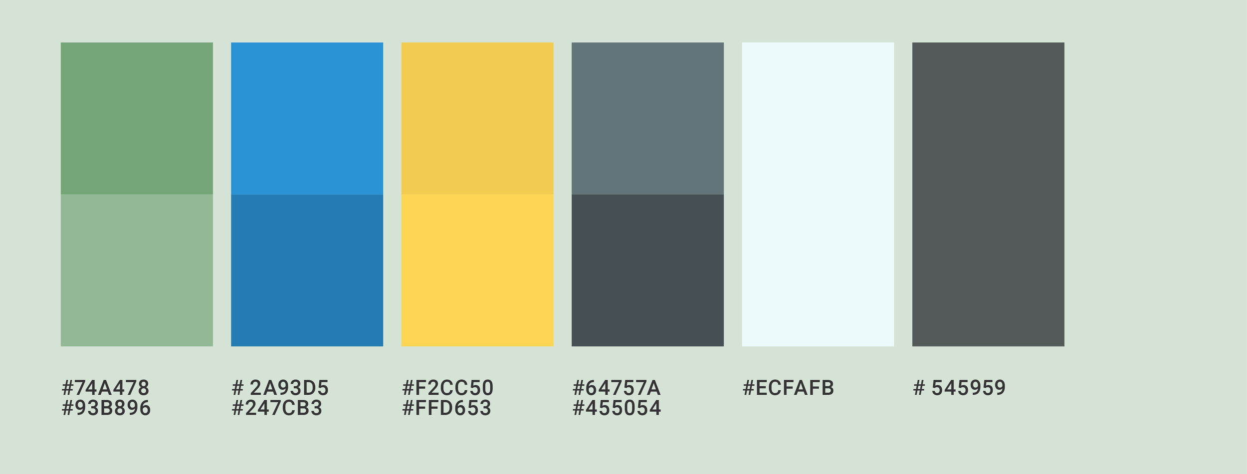 A color palette to foster calm while also having a little energy to reflect the joy within, the silver linings that are at the edge of fear and struggle. These colors are starter and base colors to help maintain a consistent look though you can add colors that compliment or contrast as desired.