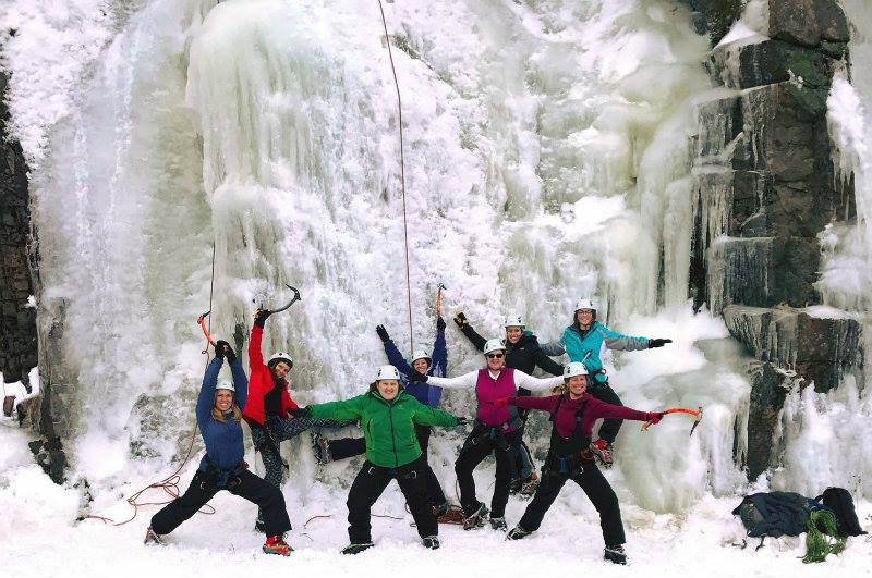 Maine Yoga Adventures tackles the ice!