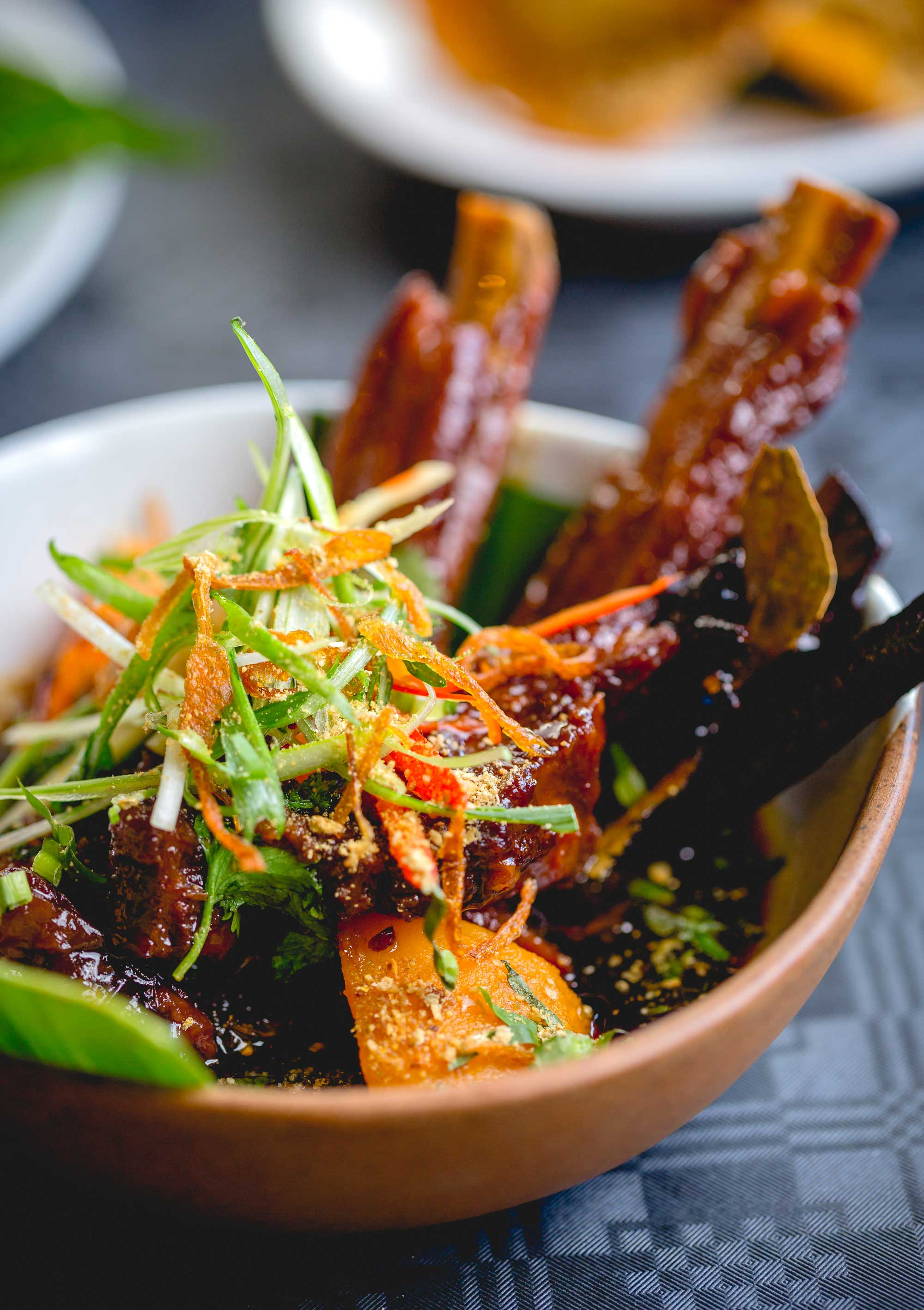 Free-Range Sticky Pork Belly & Smoked Pumpkin