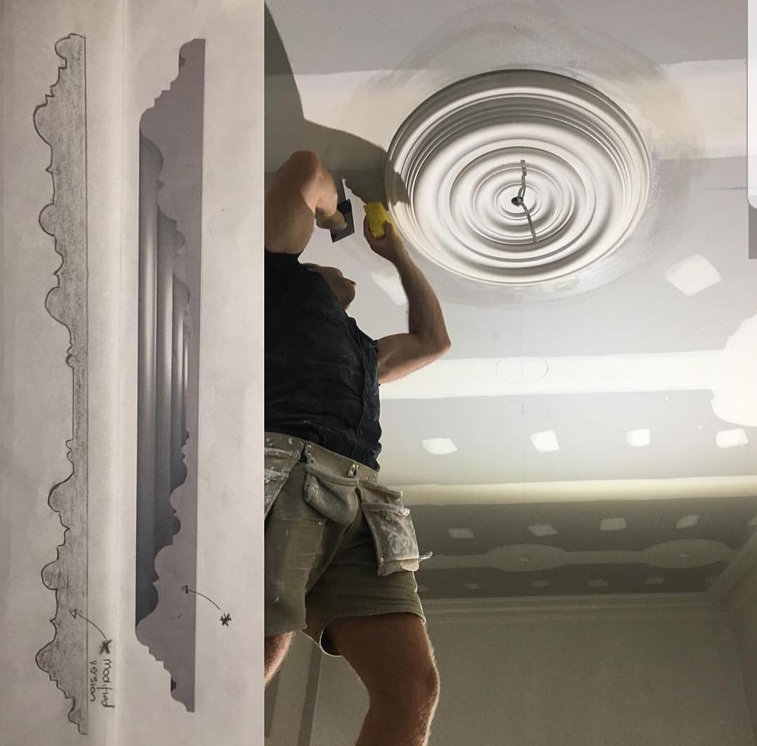 Ceiling rose installation