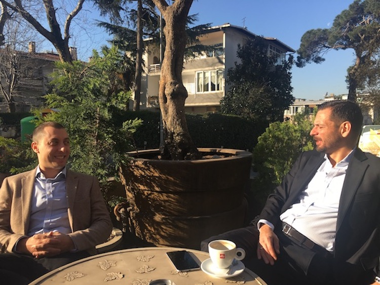 Our CEO, David Cunio, and our Turkish partner, Tunç Çakan enjoying a joke and some Turkish sun.