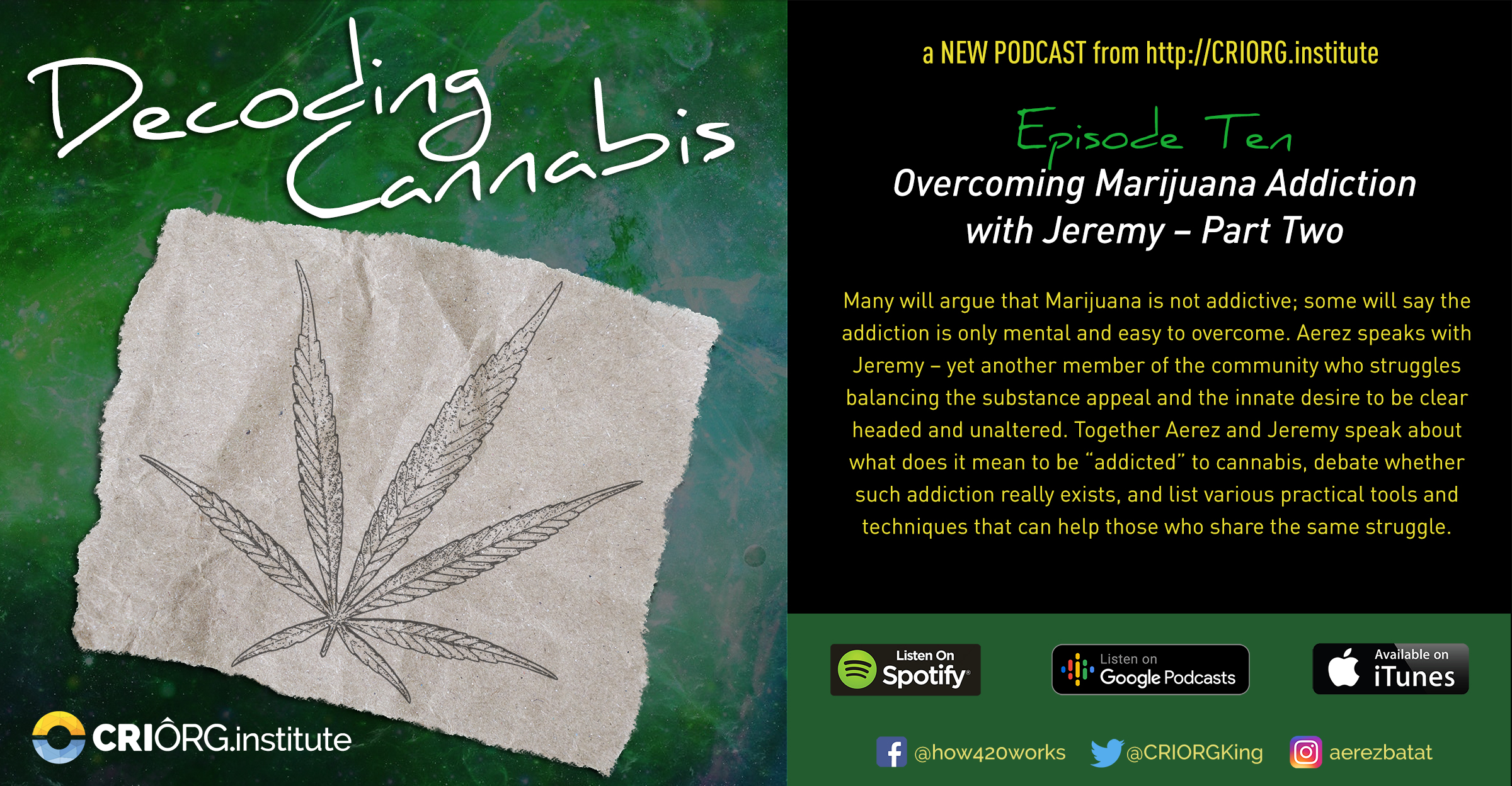 Cannabis Decoded FB Banner and Post Episode Ten.jpg