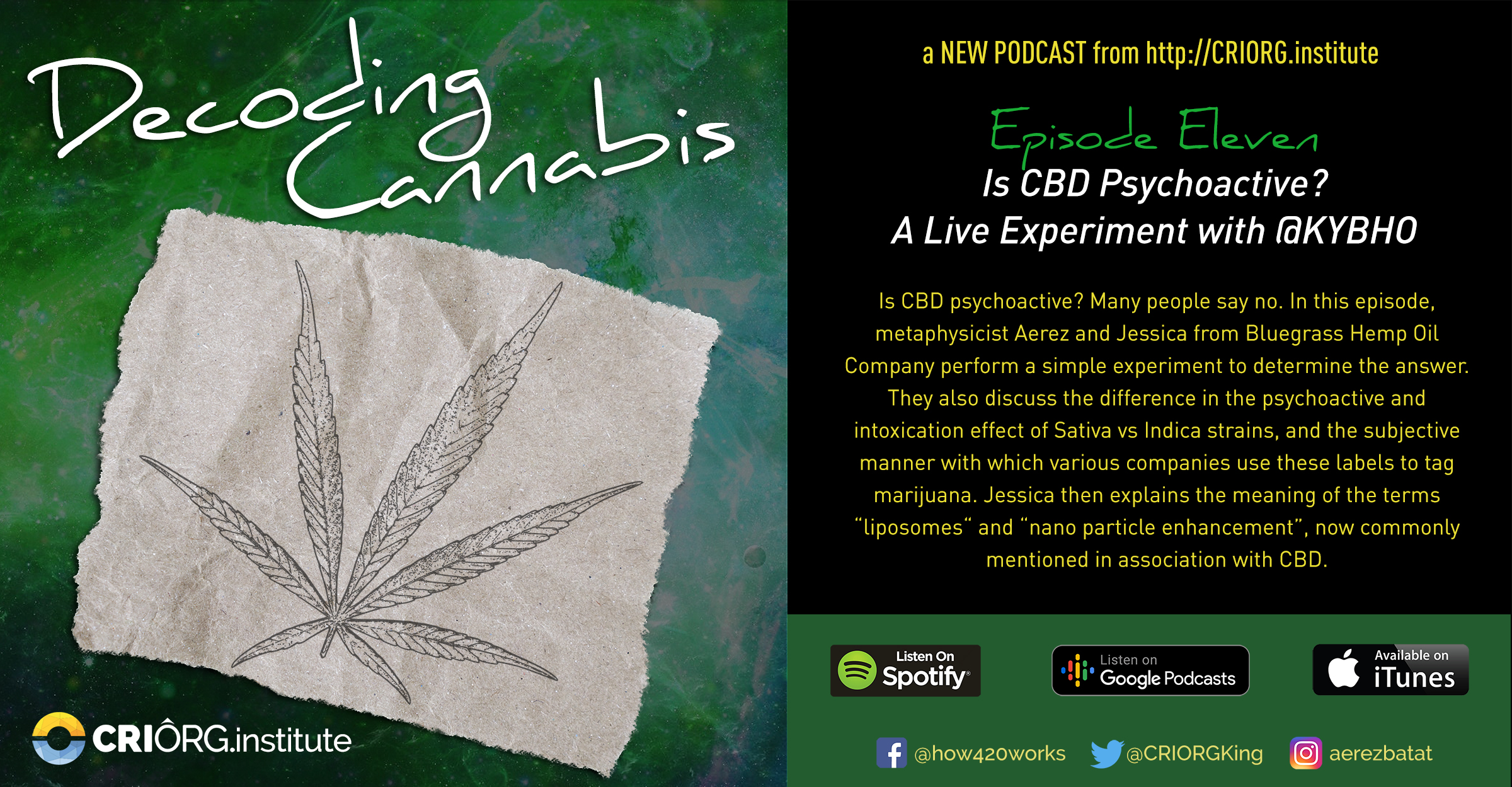 Cannabis Decoded FB Banner and Post Episode 11.jpg