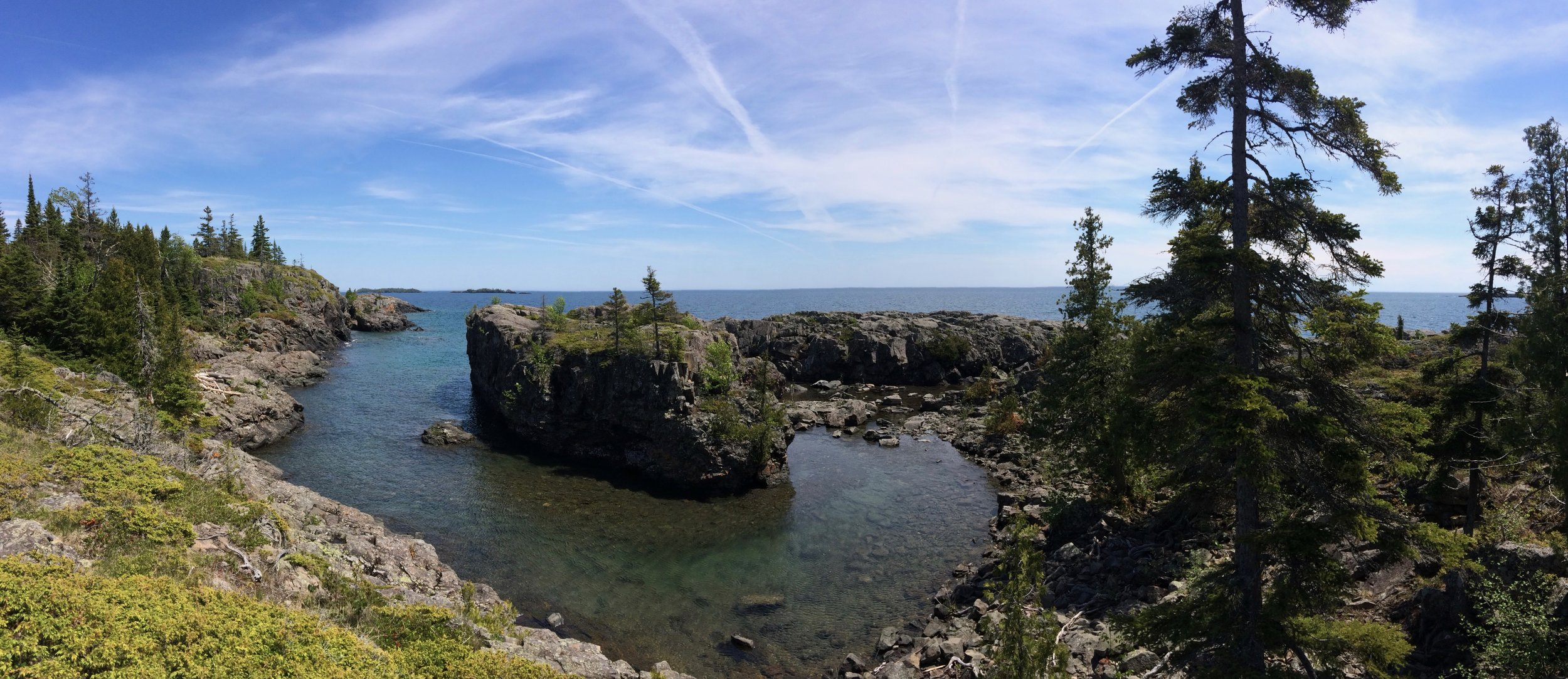 View from Scoville Trail on the two-mile hike from Rock Harbor to Dassler Cabin