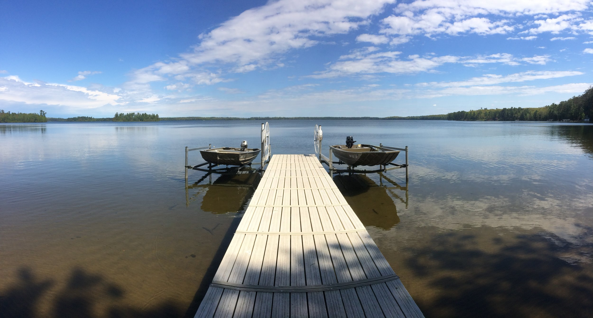 Dock on Trout Lake