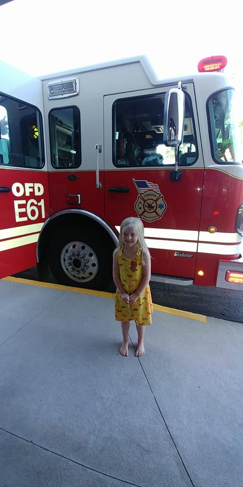 Child by Firetruck
