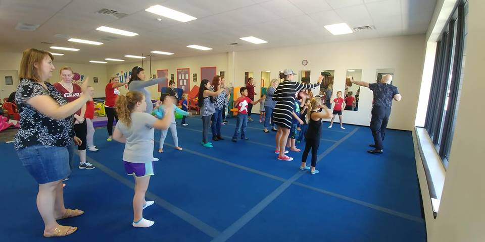 Kids practicing self defense