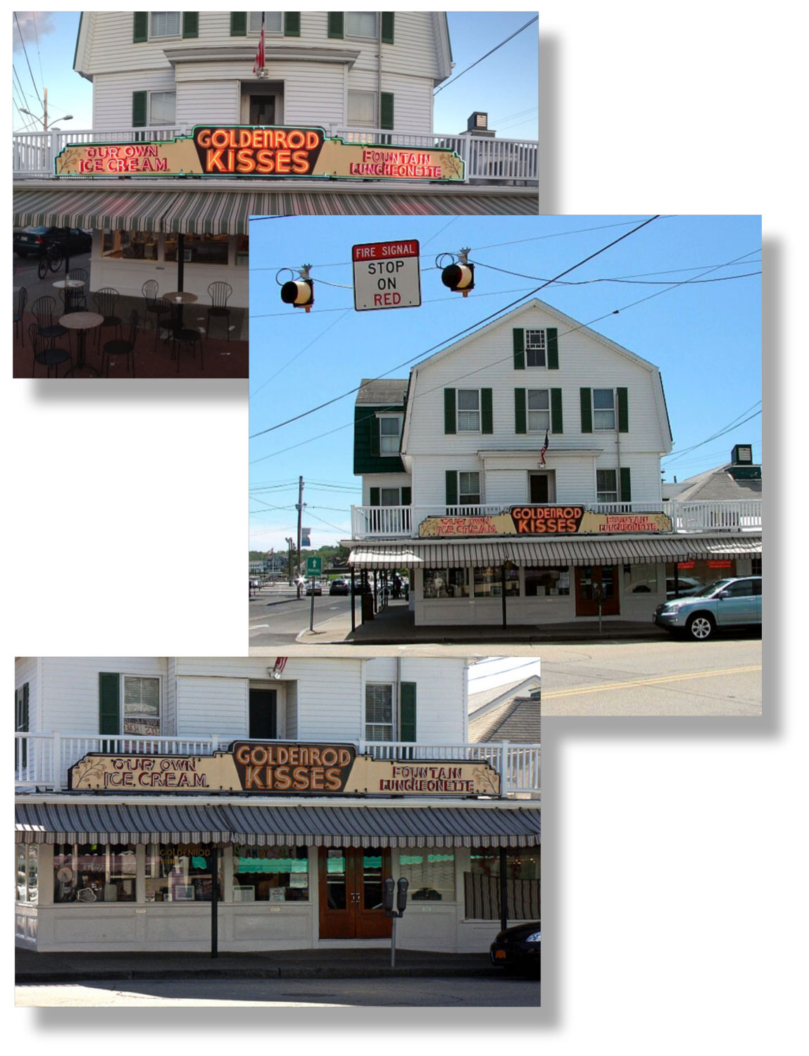 The client commissioned a painting of The Goldenrod building and their famous taffy machine in the window. These are some of the photos provided.