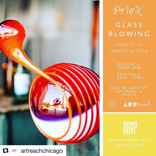 #Repost @artreachchicago with @get_repost ・・・ Our first big adventure in the new space is a doozy! So excited to partner @projectfirechi  with @Dwayne.Wade , his foundation, and Pop Up X on destigmatizing mental health issues using art. #community #glassblowing #selfcare #mentalhealth #chicago #dwaynewade