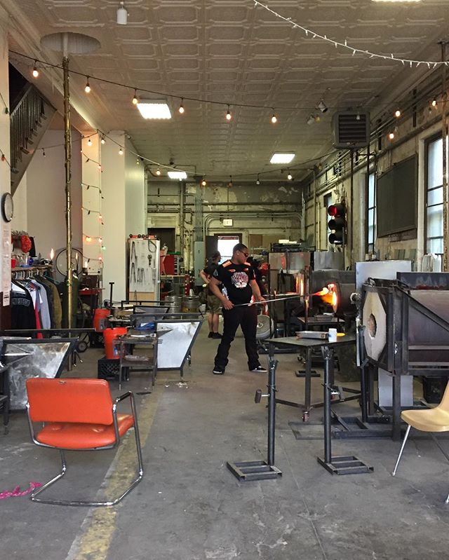 The final Project FIRE session in the Firehouse before we move into our new space. #projectfire #endgunviolence #glassblowing #youthartists