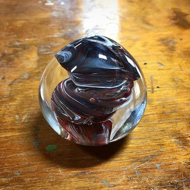 @dwayne.wade made this paperweight at the event he sponsored at our new studio Saturday. Doesn't it look great? #projectfire #endgunviolence #youthartists #dwaynewade