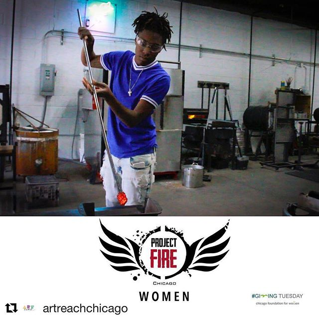 Go vote for Project FIRE Women! Link in bio.  #Repost @artreachchicago with @get_repost ・・・ We need your help to improve the lives of women and girls, ArtReachers!  ArtReach is 1 of 3 orgs in the running for a $10K grant from Chicago Foundation for Women (CFW) to start Project FIRE for female identified and gender non-binary humans! The video with the most votes wins.  Give $5 to CFW and vote for our PFIRE Women video today! http://ow.ly/g5Tz30mDkPR  When you're done, please share this post and ask your networks to vote!  #ILGive #womenpower #UDecideForCFW #ArtIs_ #glassblowing #glass #communityarts #traumainformed