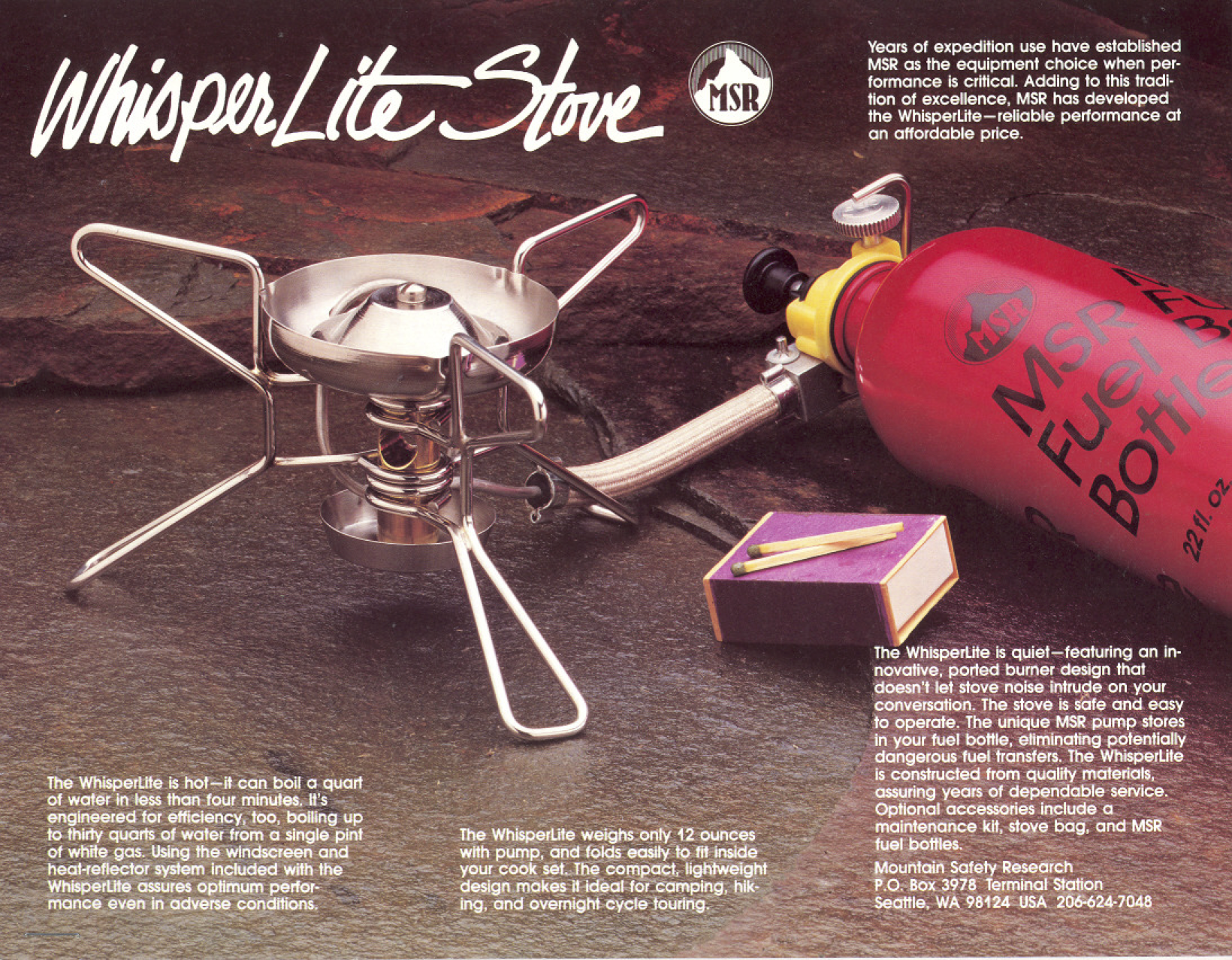 OCTOBER 26, 1984: MSR debuts WhisperLite™ Stove, the most
