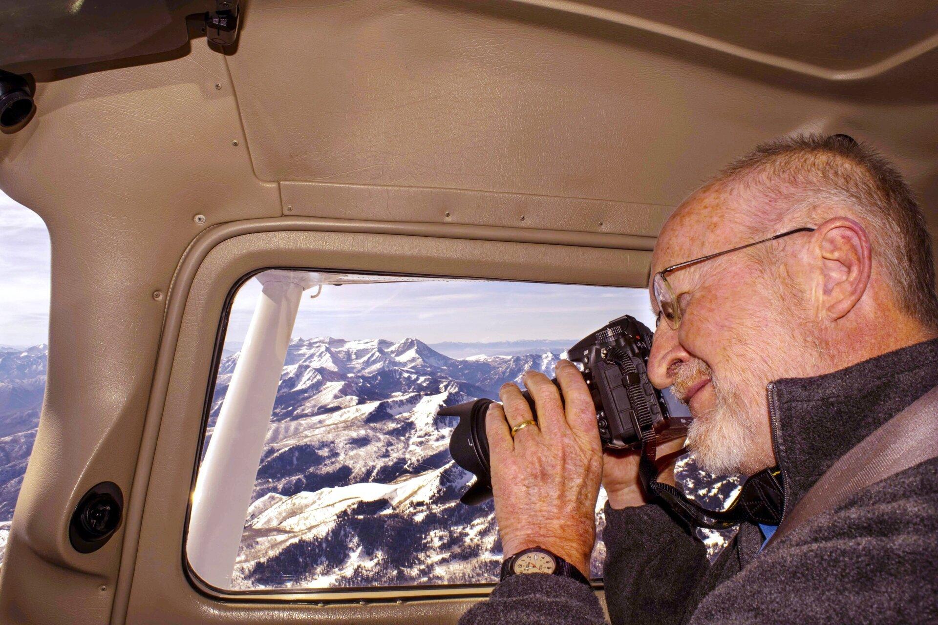 James Niehues The Man Behind The Ski Maps MeInPlaneAlpsMeters.jpg