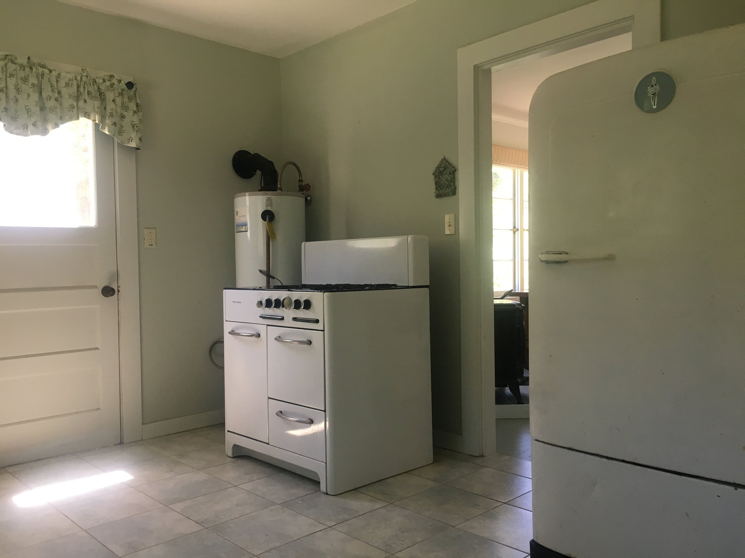Kitchen in the cabin for sale in Yorkville.
