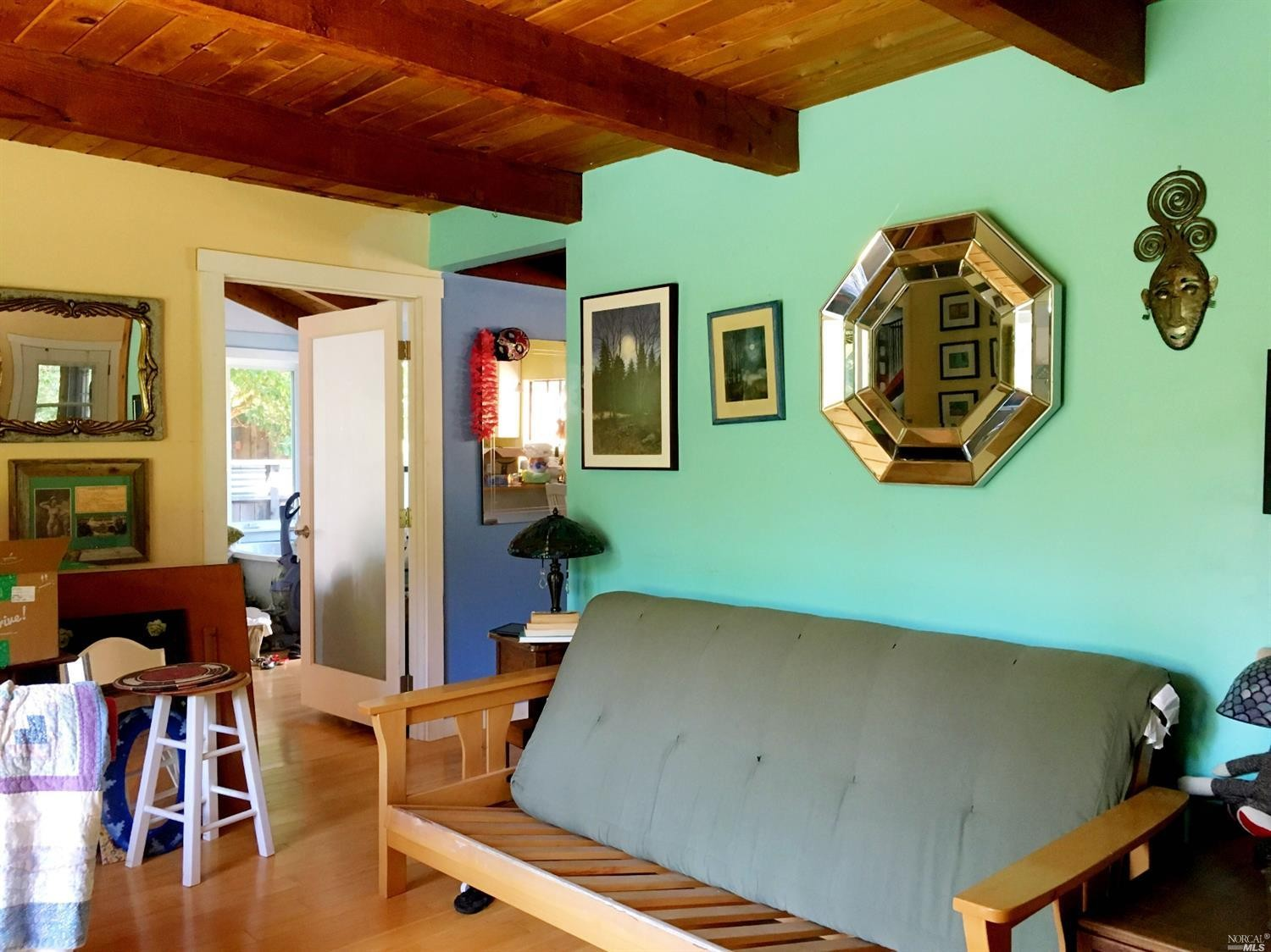 Study in a home for sale on Guntly Road in Philo, CA.