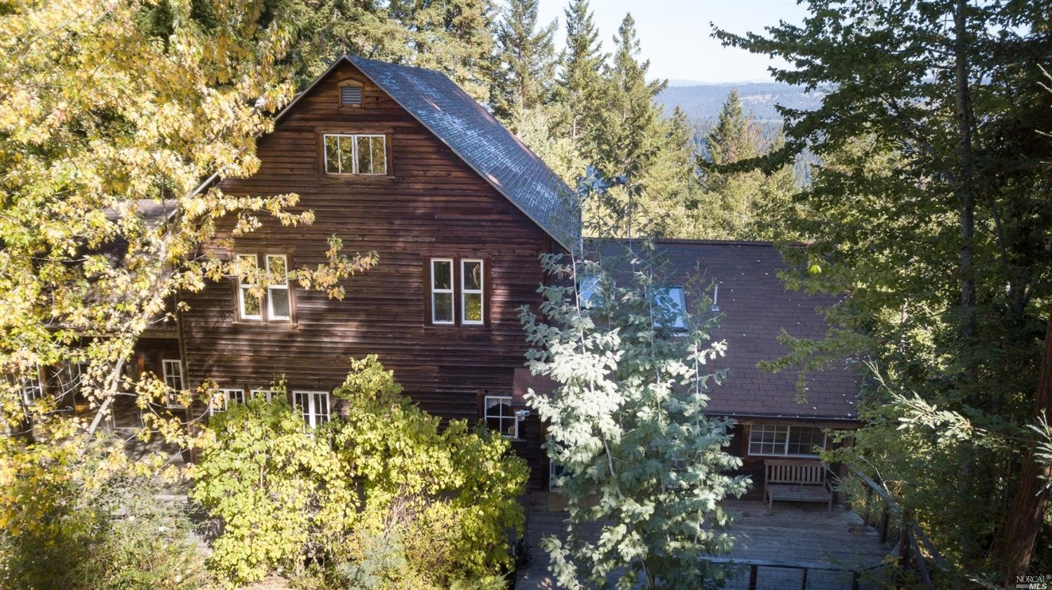 Family home for sale in the mountains above Philo, California