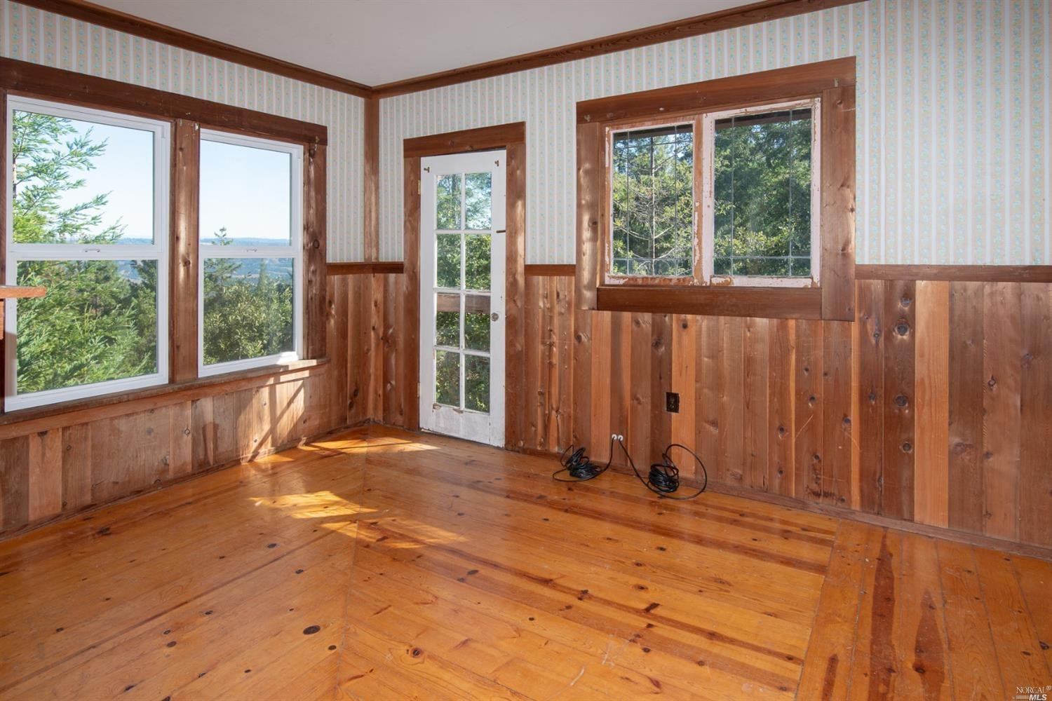 Upstairs bedroom in a family home for sale, Philo, CA