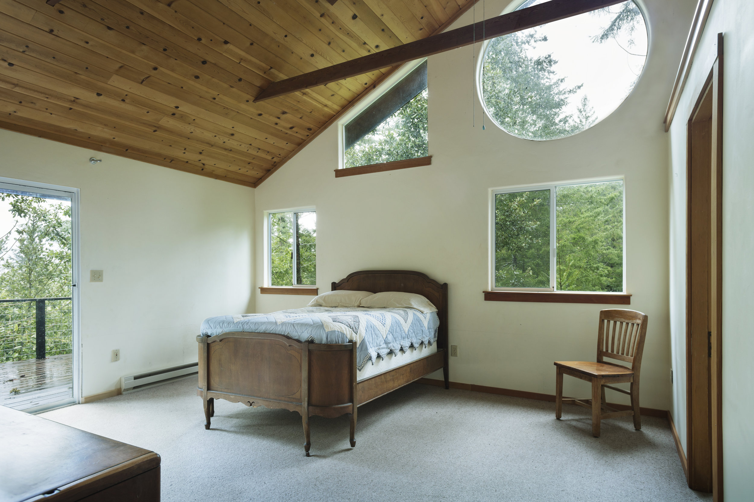 Downstairs master bedroom in a home for sale in Philo, CA