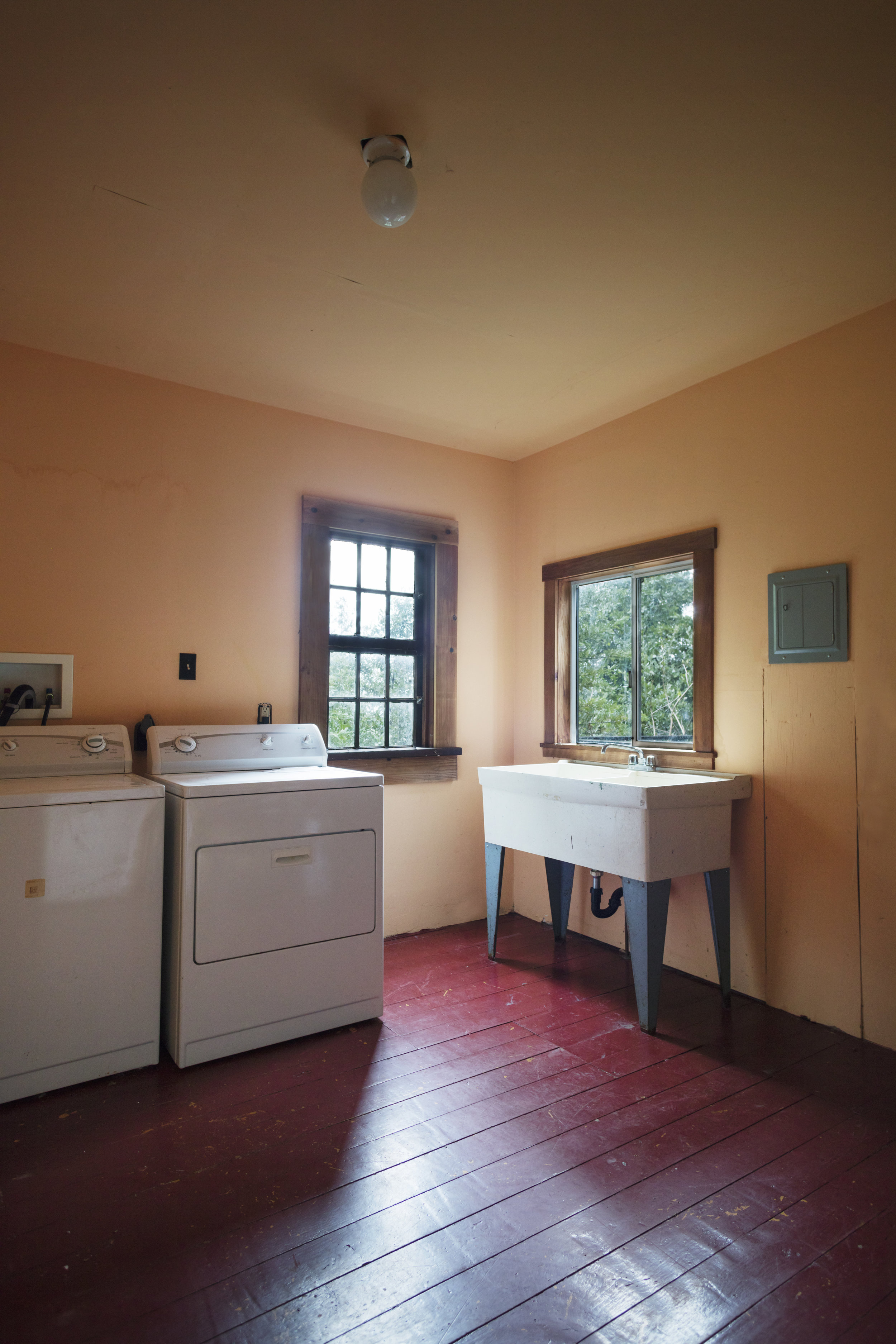 laundry room in a family home for sale, Philo, CA
