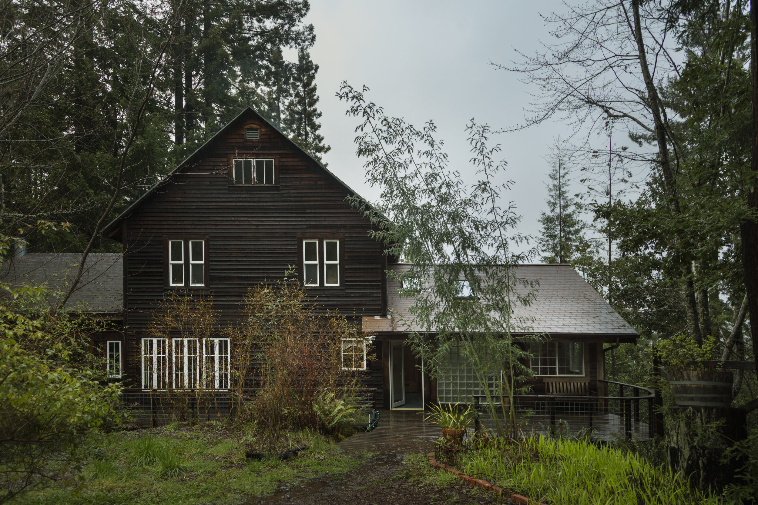 exterior of family home in the hills above Philo, CA