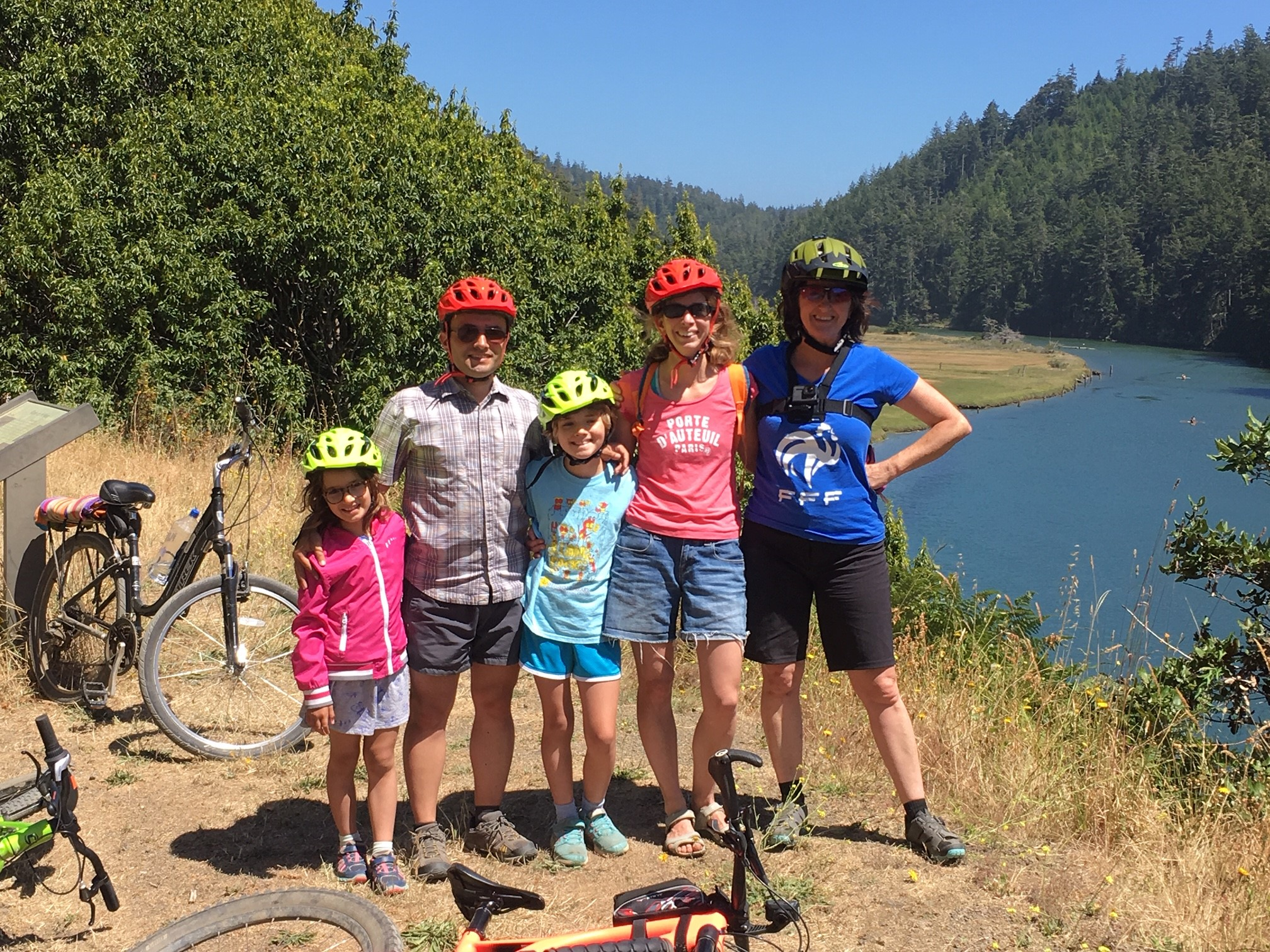 Biking along the haul road in Mendocino.