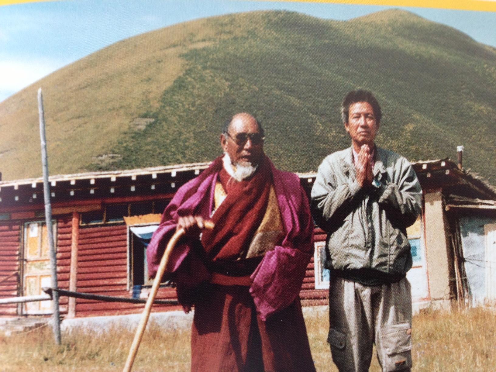L- Khenpo Munsel R- Master Wang
