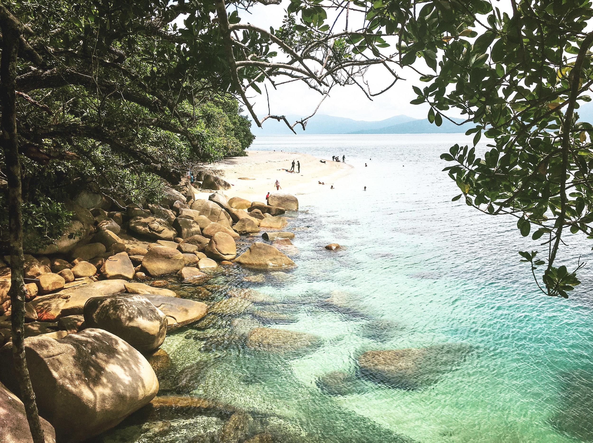 Hiking through Fitzroy Island