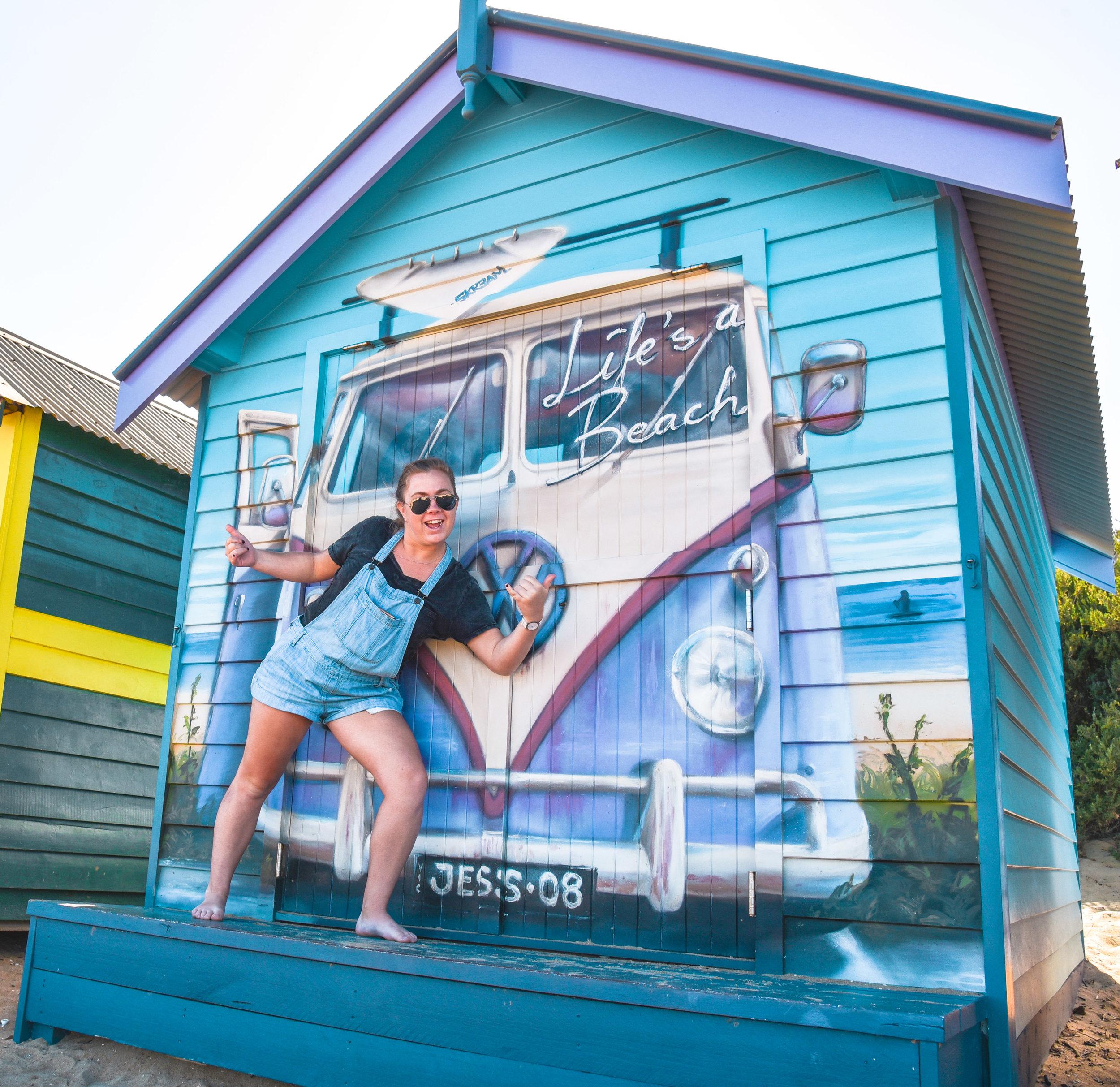 A very special beach box at Brighton in Melbourne, Australia