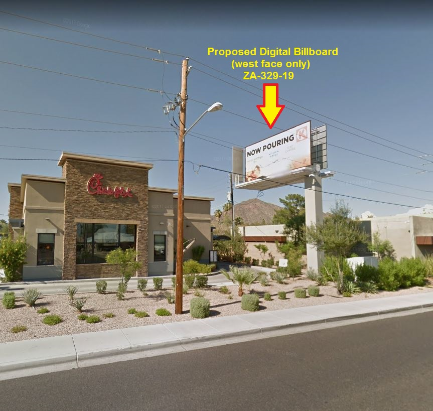 Proposed digital billboard ZA-329-19, 4105 N. 44th St.