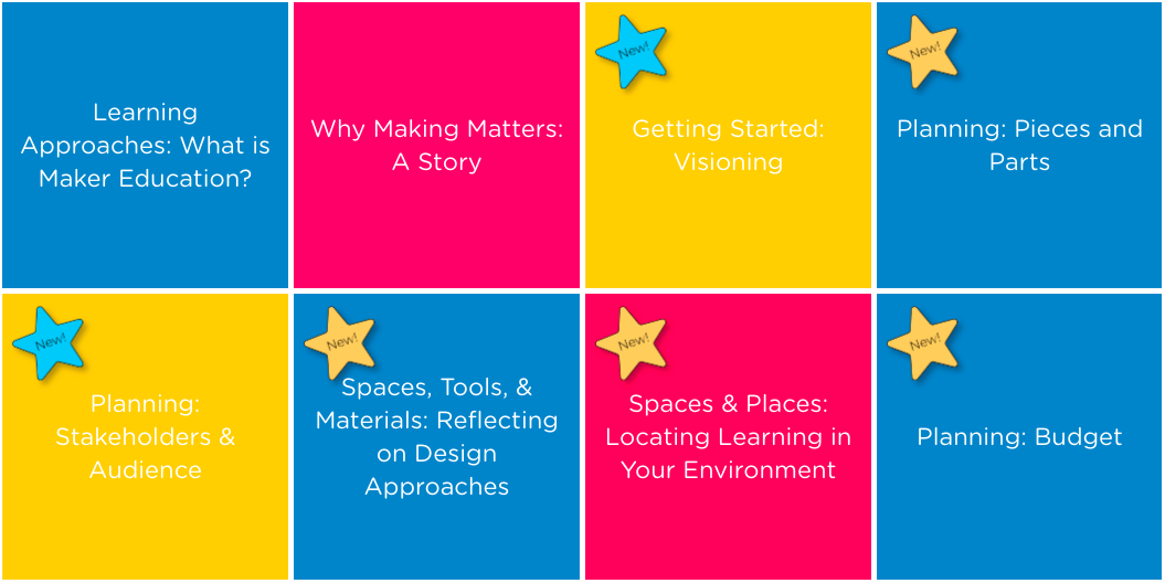 MakerEd.org has a long list of  online learning modules  available online to help educators get started making stuff.