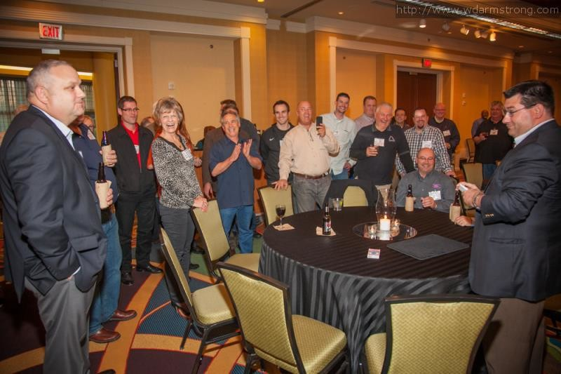 Mike Duseberg adds some drama, conflict, and laughs at an annual sales convention in Atlanta, GA.